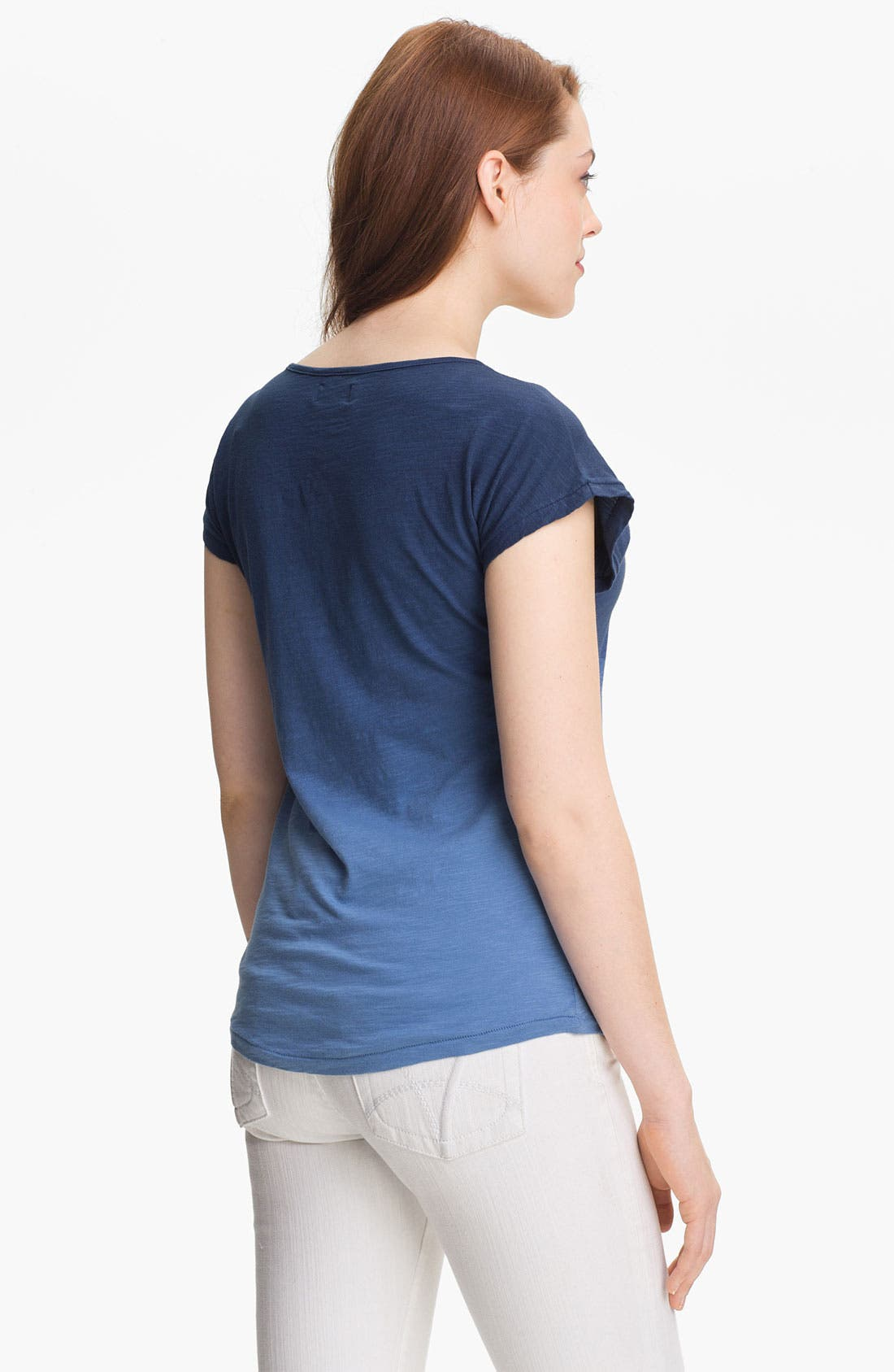 Alternate Image 2  - Lucky Brand Embroidered Dip Dye Tee (Online Exclusive)