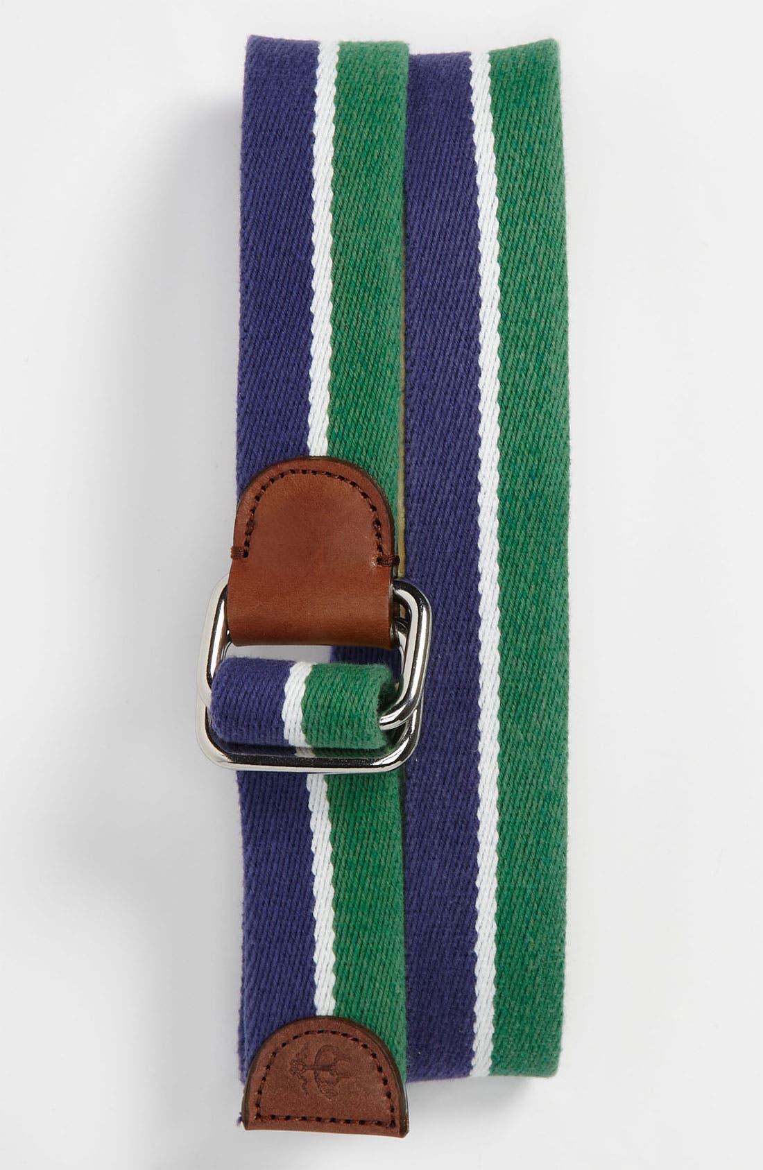 Alternate Image 1 Selected - Brooks Brothers Stripe Canvas  Belt