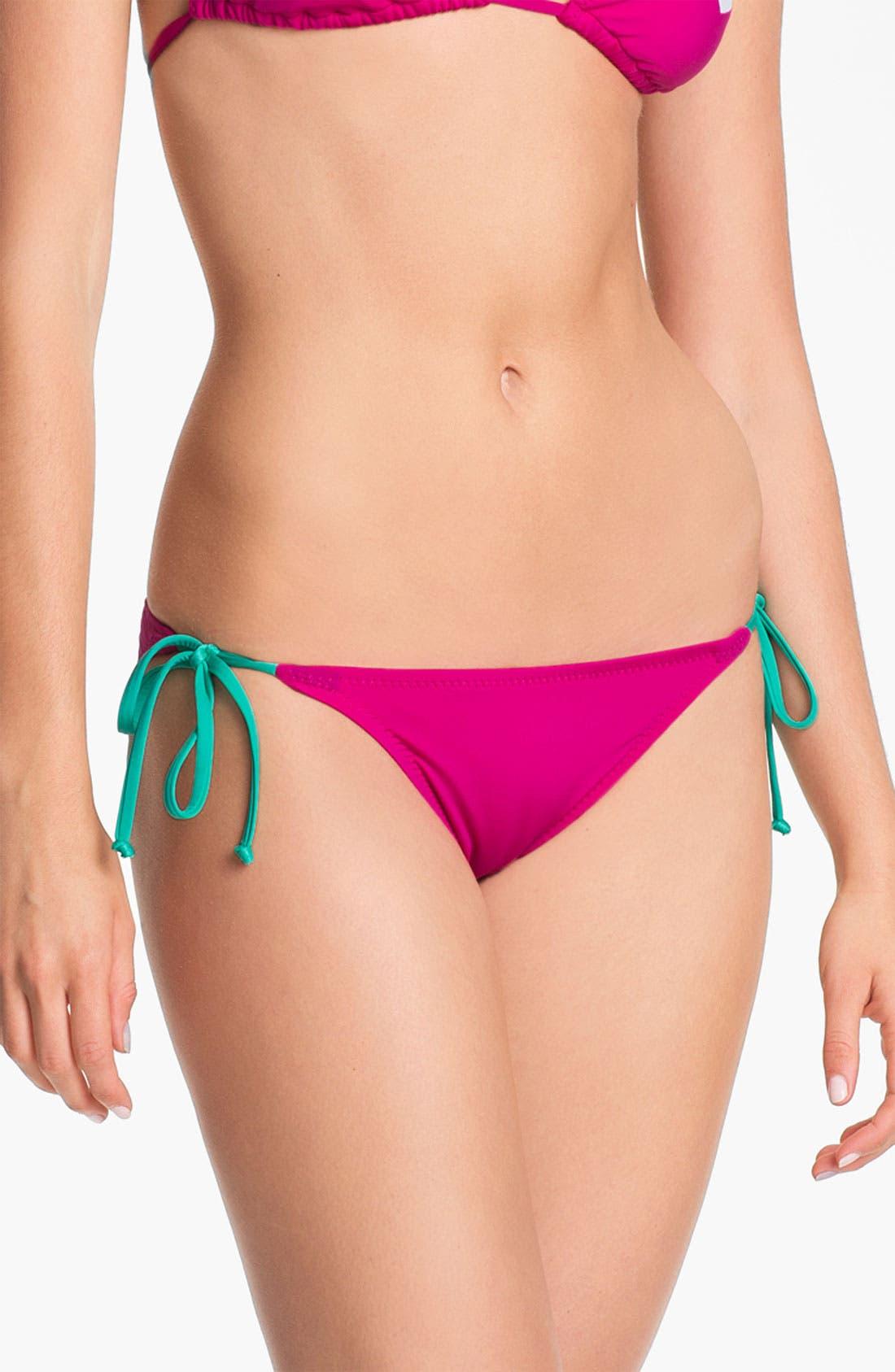 Alternate Image 2  - Becca Chevron Colorblock Bikini Bottoms