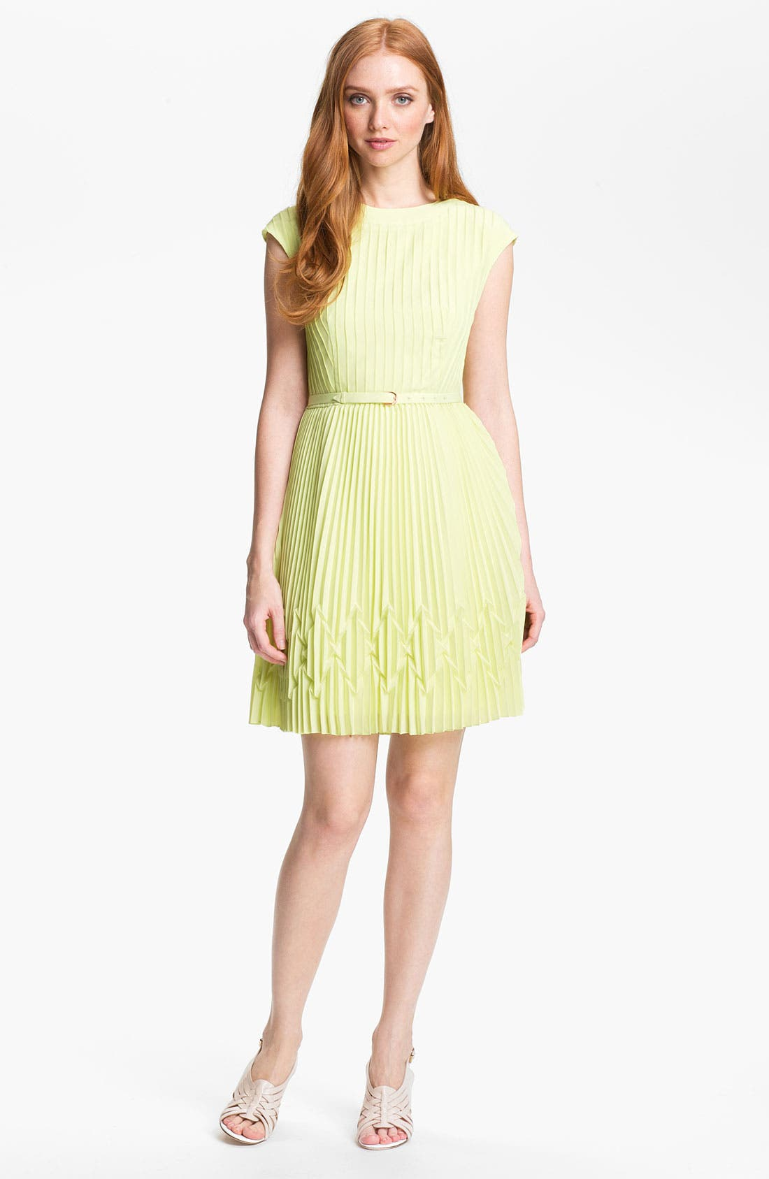 Alternate Image 1  - Ted Baker London Pleated Fit & Flare Dress (Online Only)