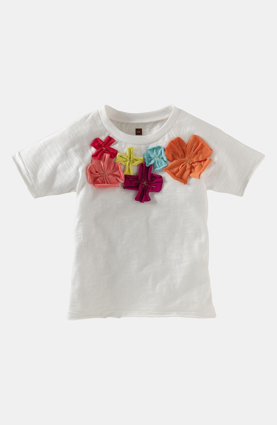 Main Image - Tea Collection 'Wild Hibiscus' Tee (Little Girls & Big Girls)