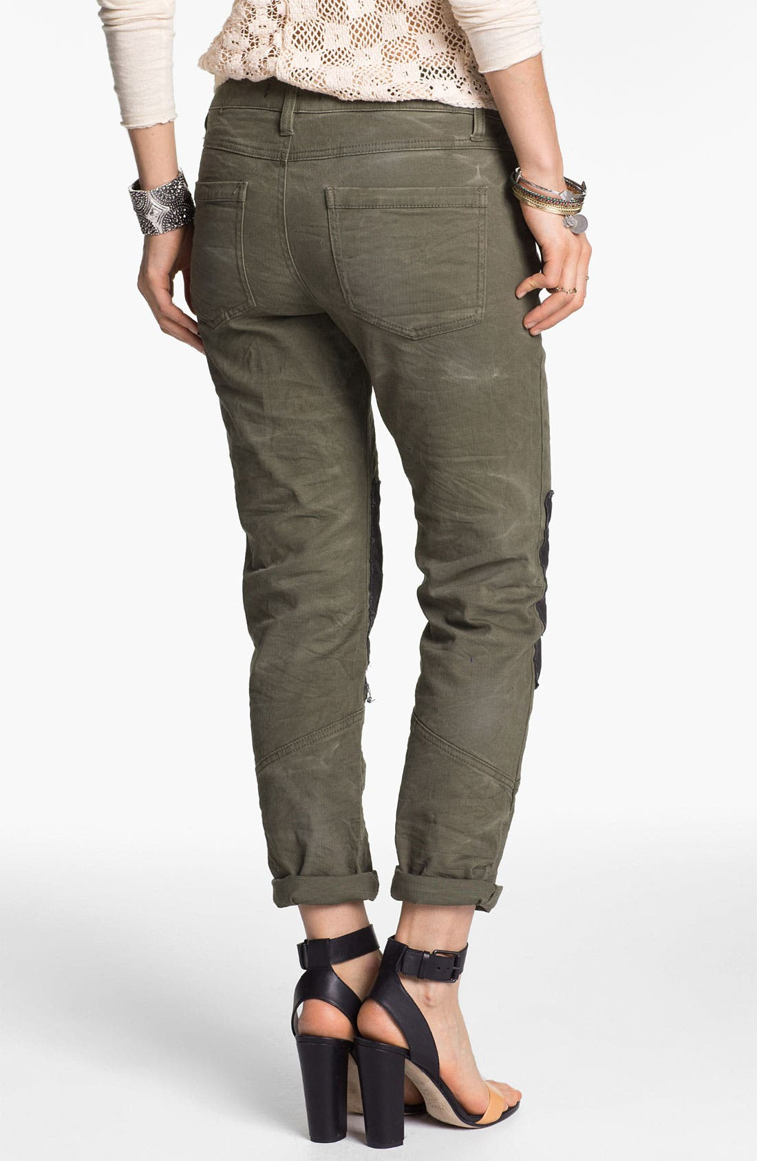 Alternate Image 2  - Free People Knee Patch Skinny Chinos