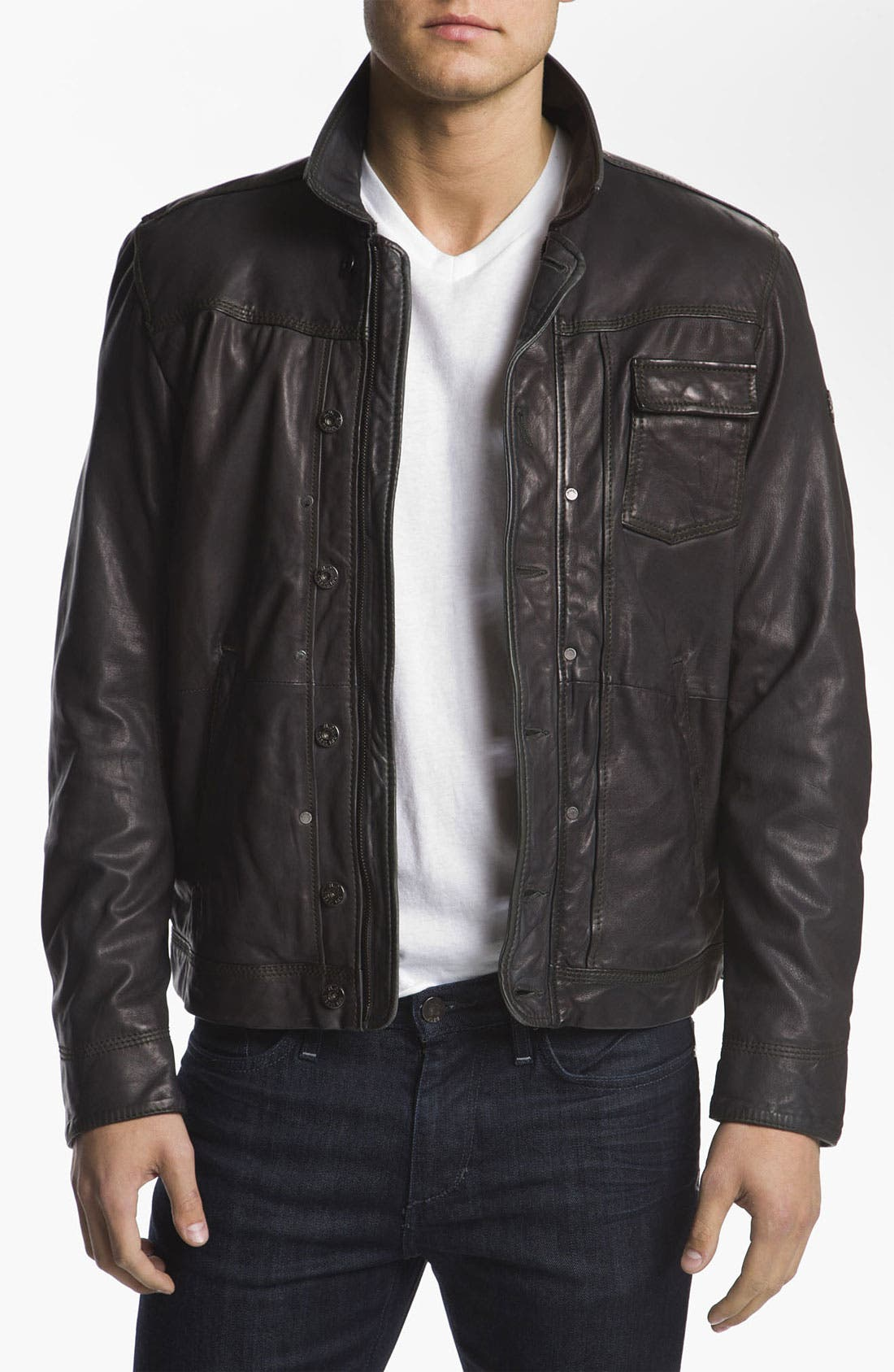 Alternate Image 1 Selected - DIESEL® 'Laurence' Leather Jacket