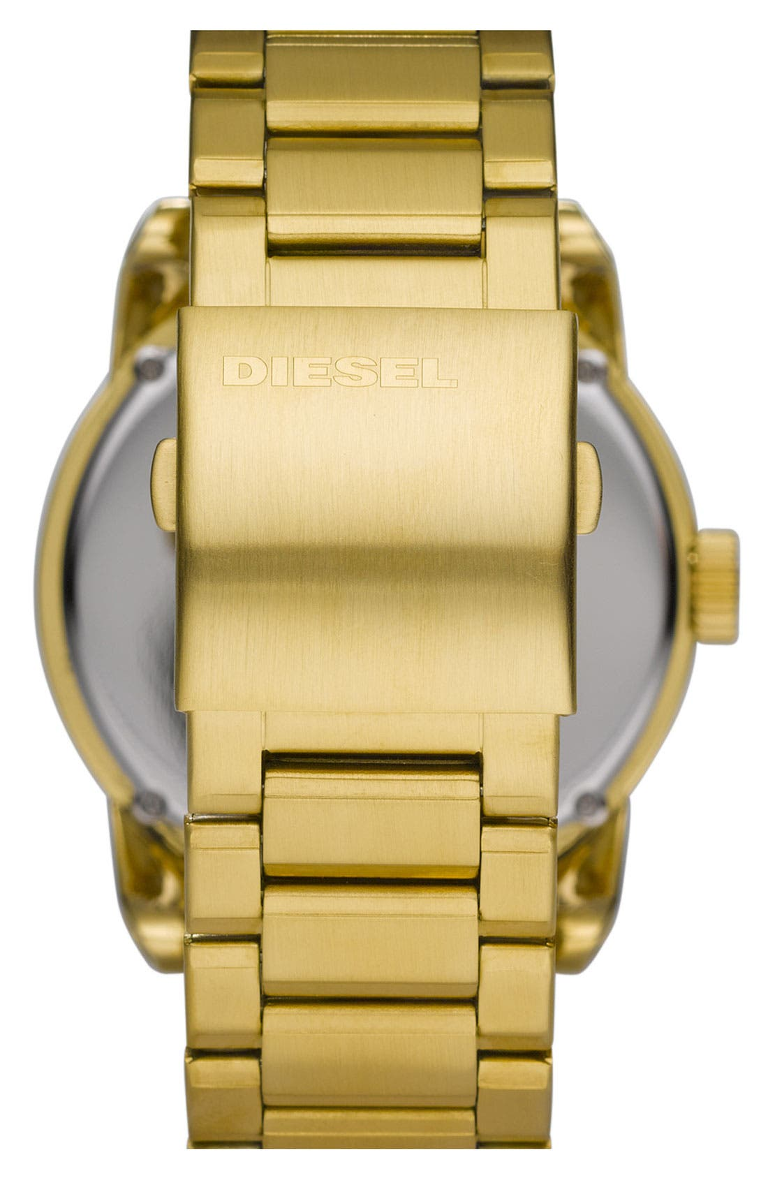 Alternate Image 3  - DIESEL® 'Franchise' Round Bracelet Watch, 45mm