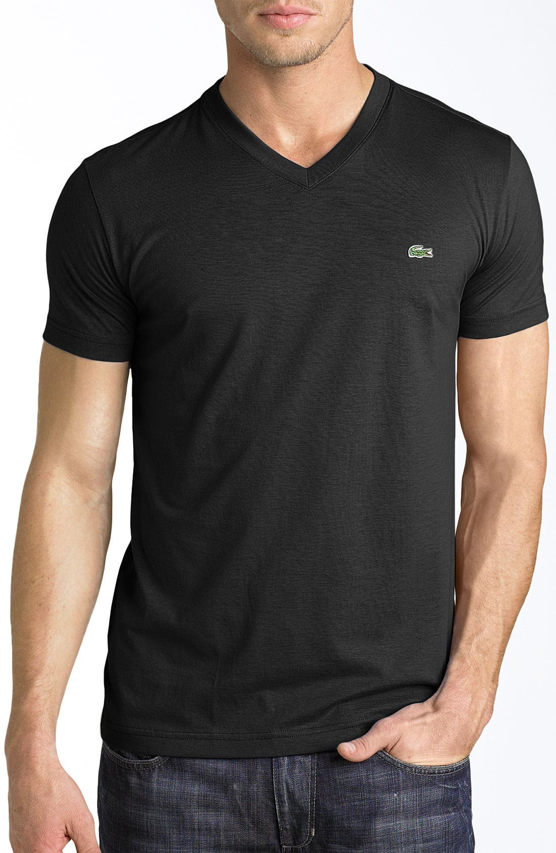 Main Image - Lacoste V-Neck Cotton T-Shirt (Tall)