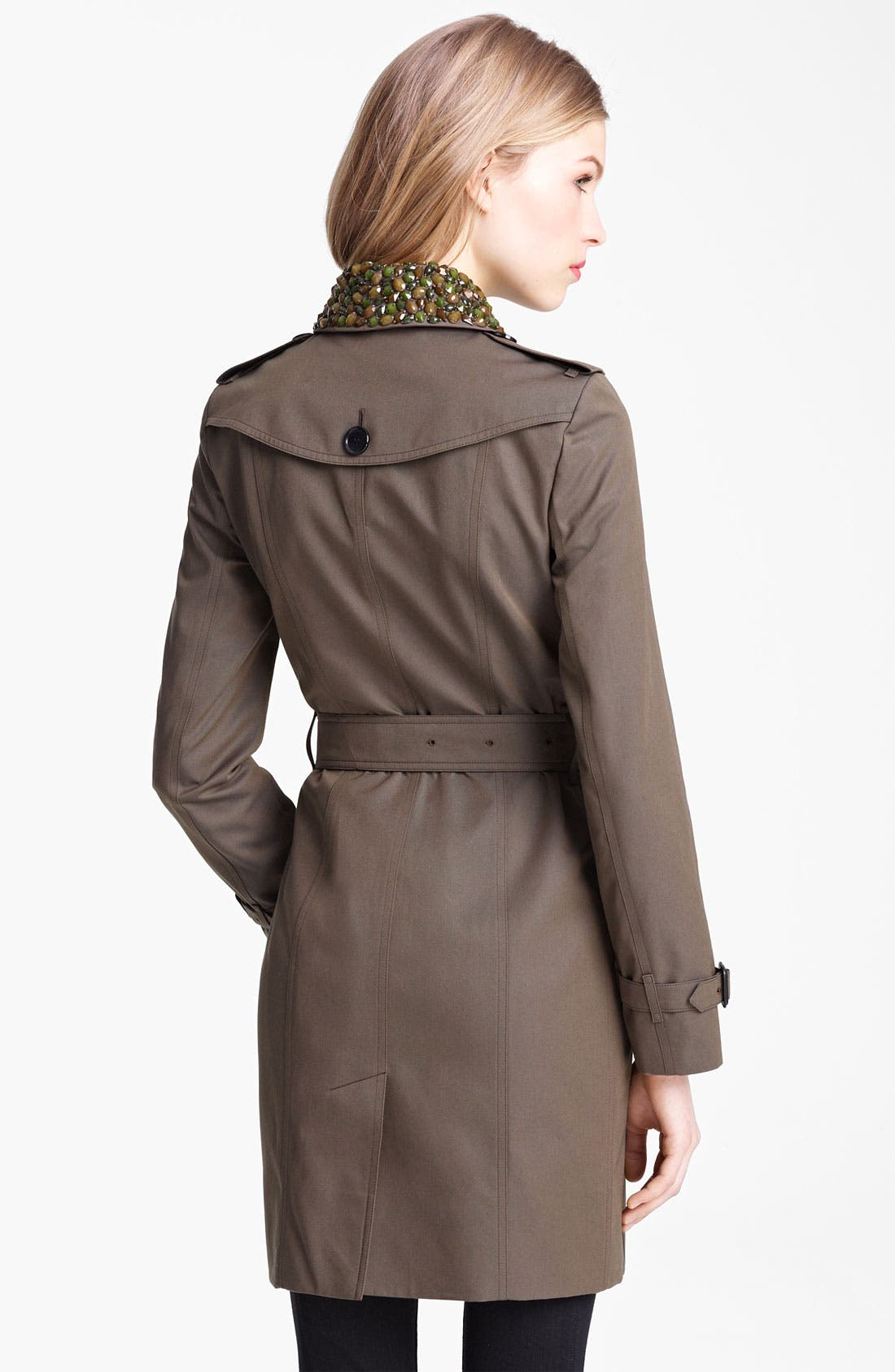 Alternate Image 2  - Buberry London Double Breasted Trench with Removable Jewel Collar