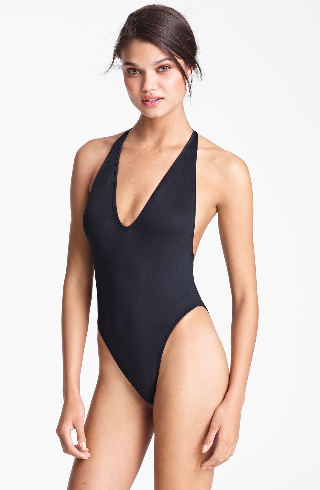 Alternate Image 1 Selected - Lanvin V-Neck Swimsuit