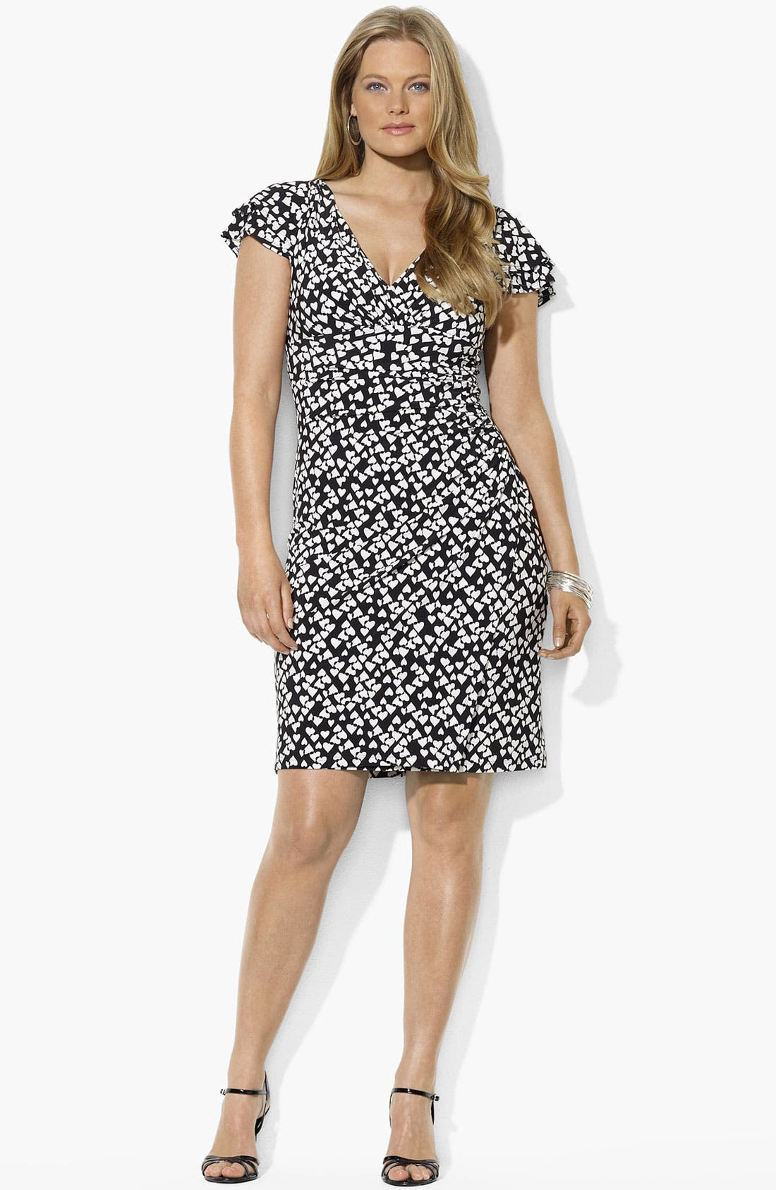 Main Image - Lauren Ralph Lauren Print Matte Jersey Dress (Plus Size)