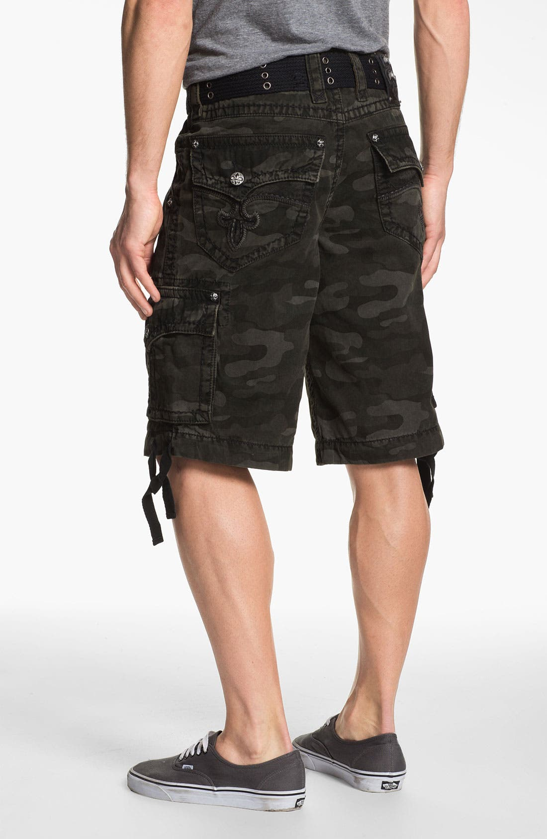 Alternate Image 1 Selected - Rock Revival Camo Print Cargo Shorts