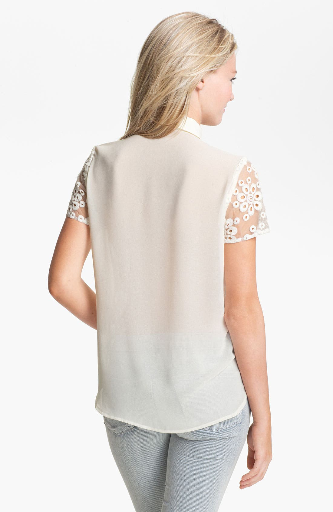 Alternate Image 2  - Collective Concepts Eyelet Shirt