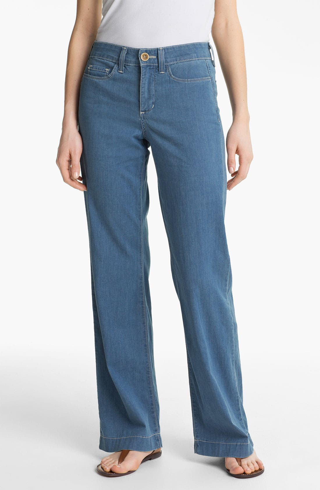 Alternate Image 1 Selected - NYDJ 'Lizzie' Wide Leg Stretch Jeans