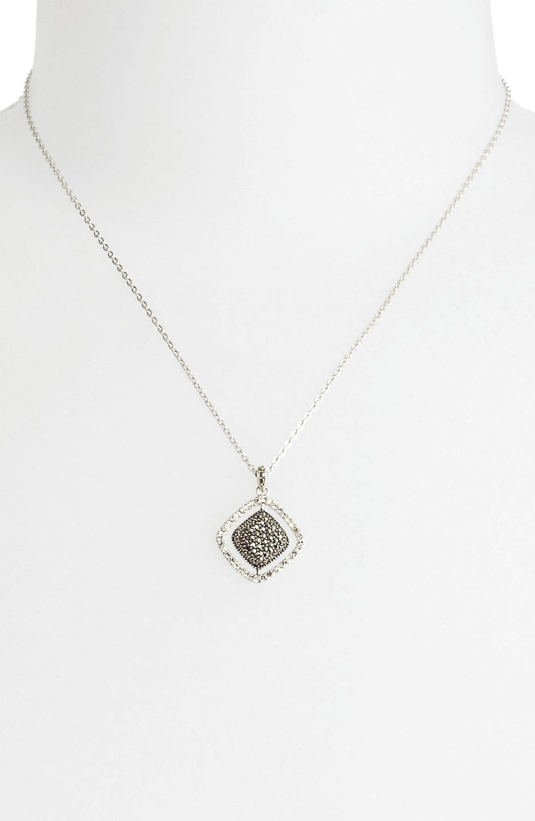 Alternate Image 1 Selected - Judith Jack Cushion Marcasite Pendant Necklace