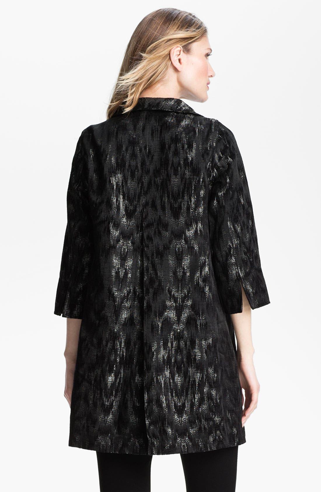 Alternate Image 2  - Eileen Fisher Ikat Jacquard Coat (Petite)