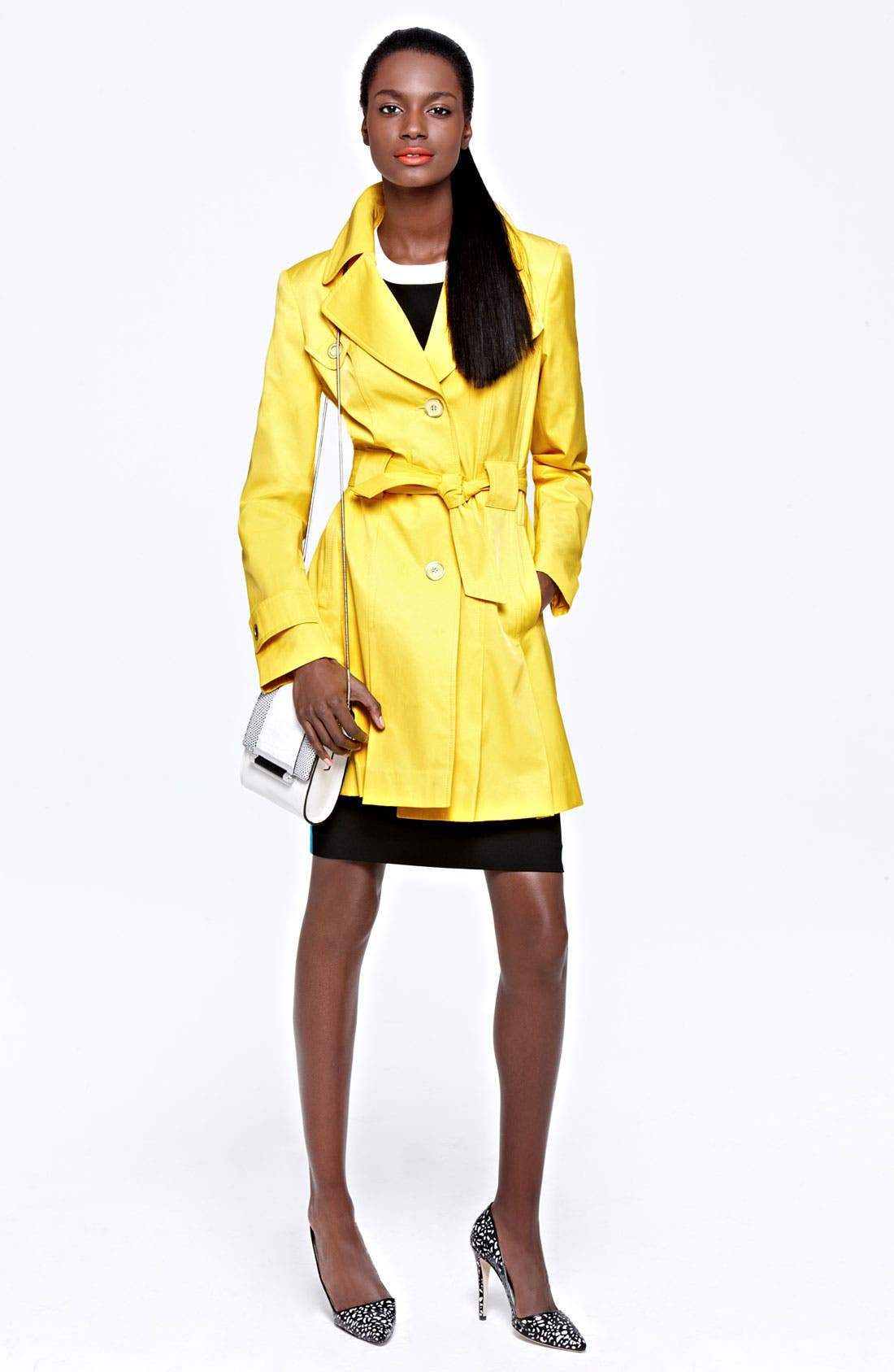 Alternate Image 5  - Via Spiga Pleated Trench Coat (Regular & Petite)