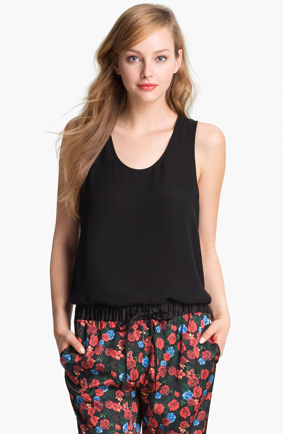 Alternate Image 2  - Vince Camuto Back Lace Panel Tank