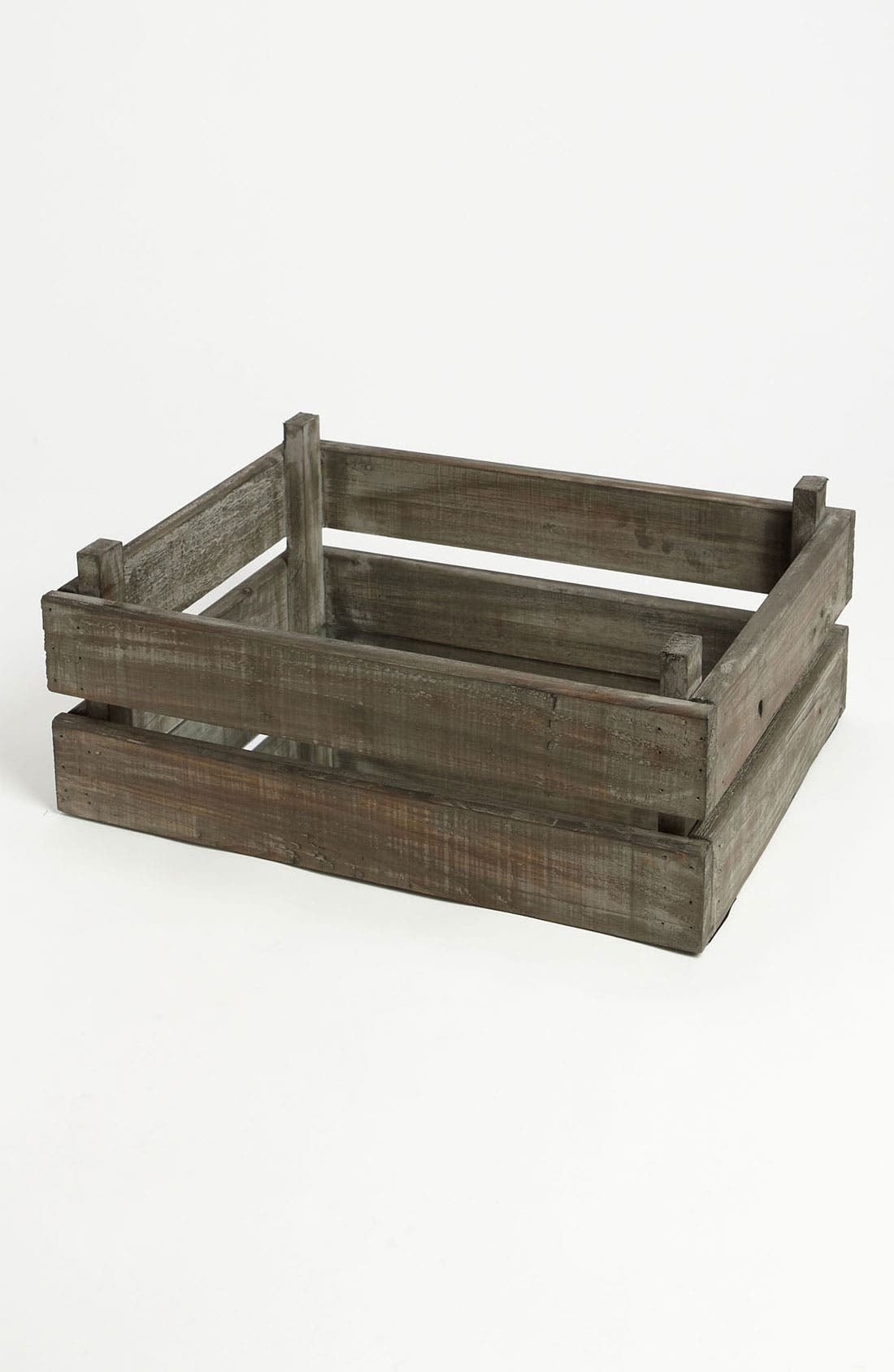 Alternate Image 1 Selected - Wooden Crate with Mirror