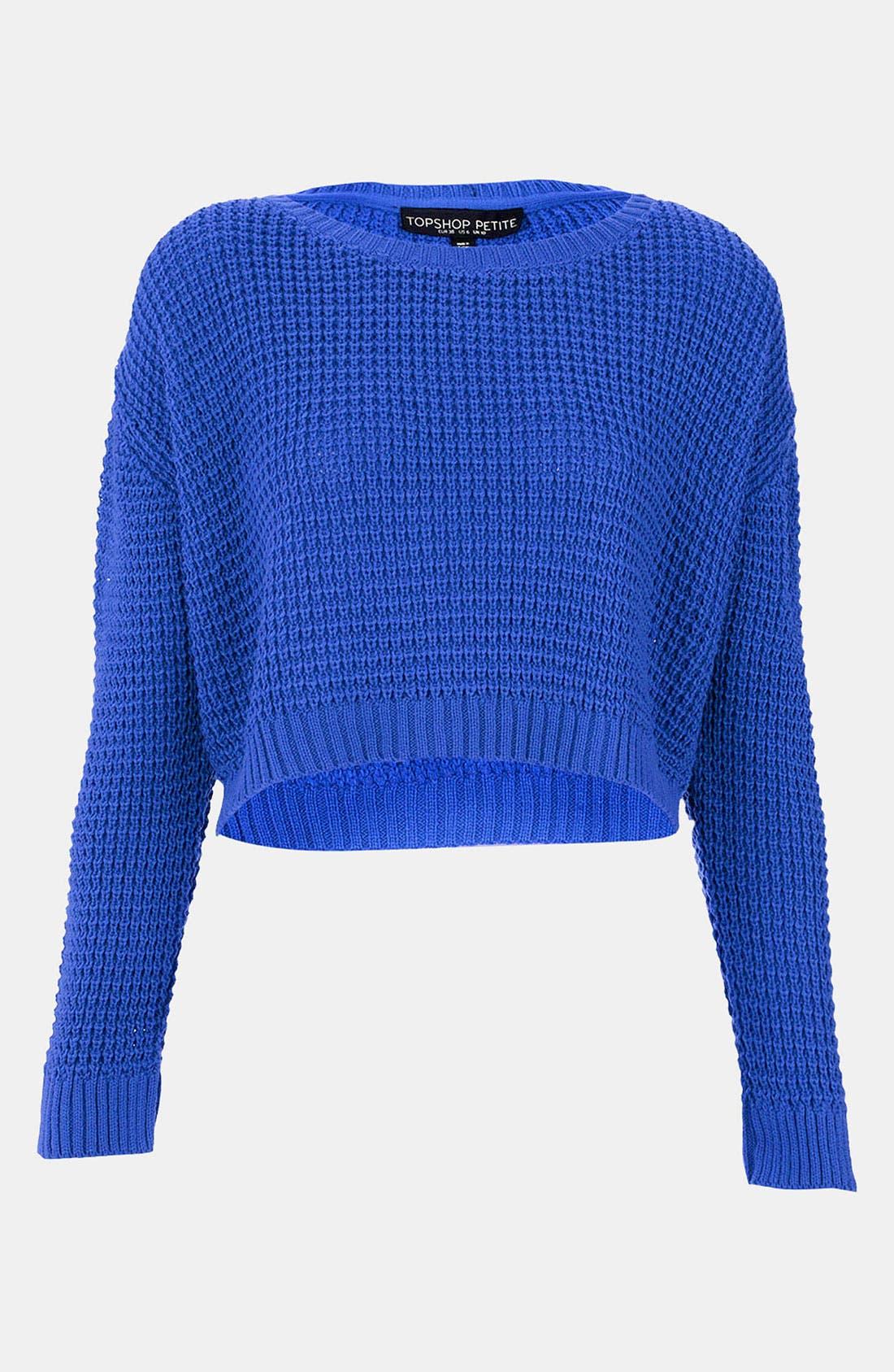 Main Image - Topshop Crop Sweater (Petite)