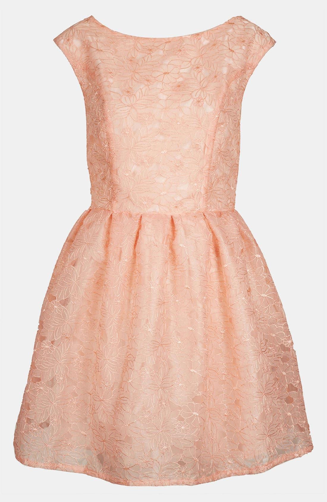 Main Image - Topshop Floral Organza Party Dress