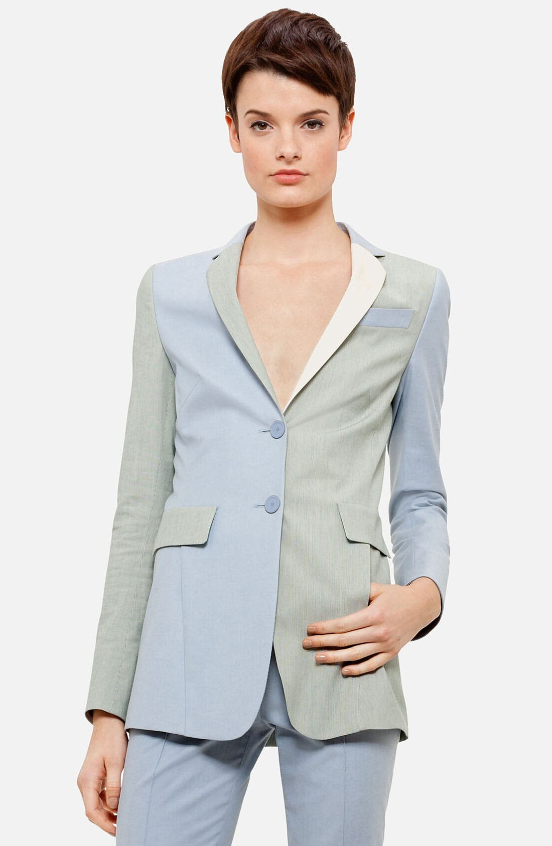 Alternate Image 1 Selected - Akris punto Long Colorblock Blazer