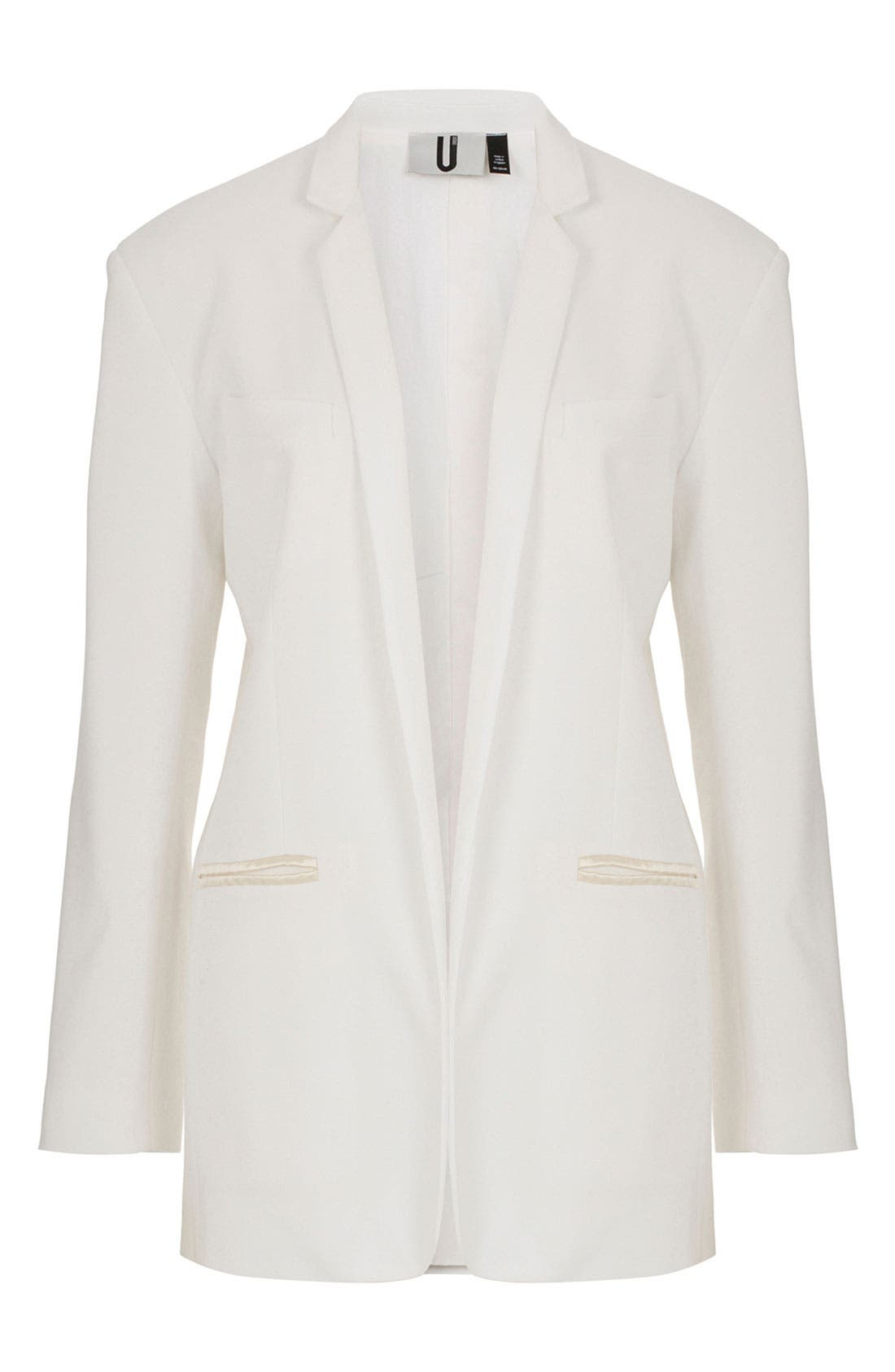 Alternate Image 1 Selected - Topshop Unique Silk Blazer