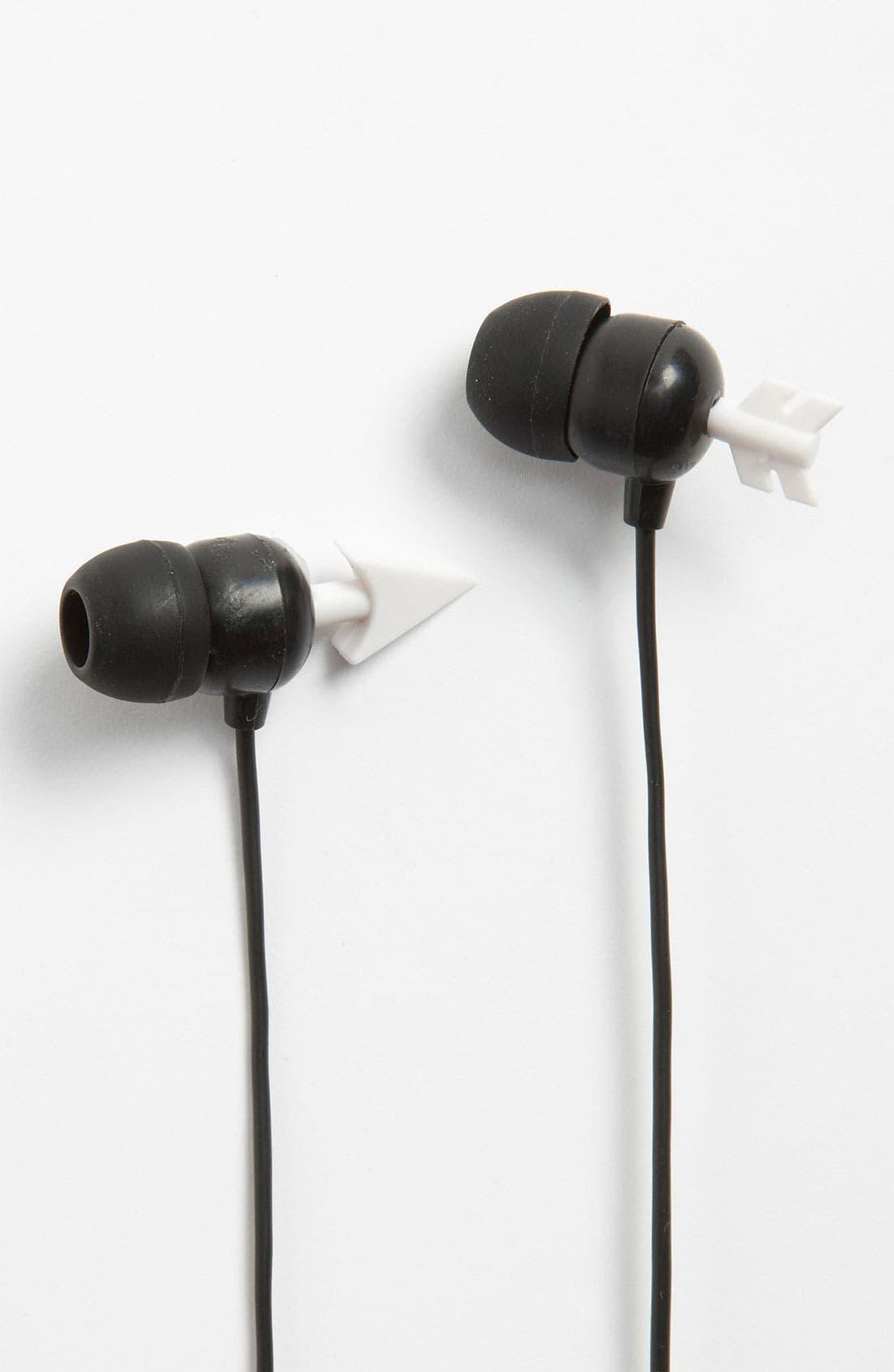 Alternate Image 1 Selected - Kikkerland Design Arrow Earbuds