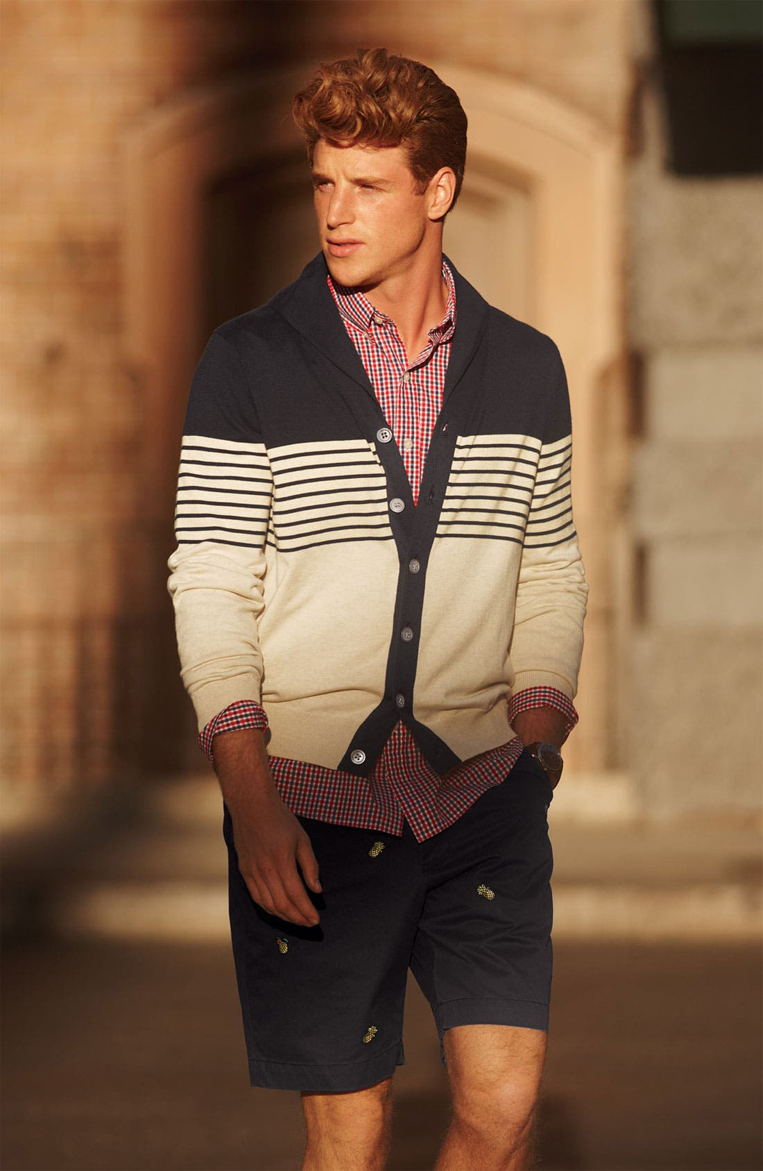 Alternate Image 4  - Brooks Brothers Shawl Collar Cardigan