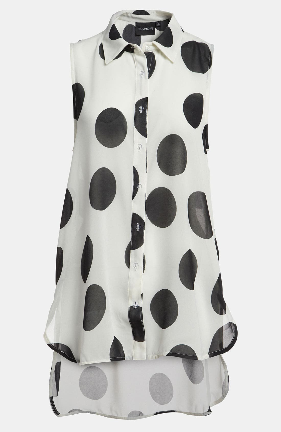Main Image - MINKPINK 'Clowning Around' Sheer Sleeveless Shirt