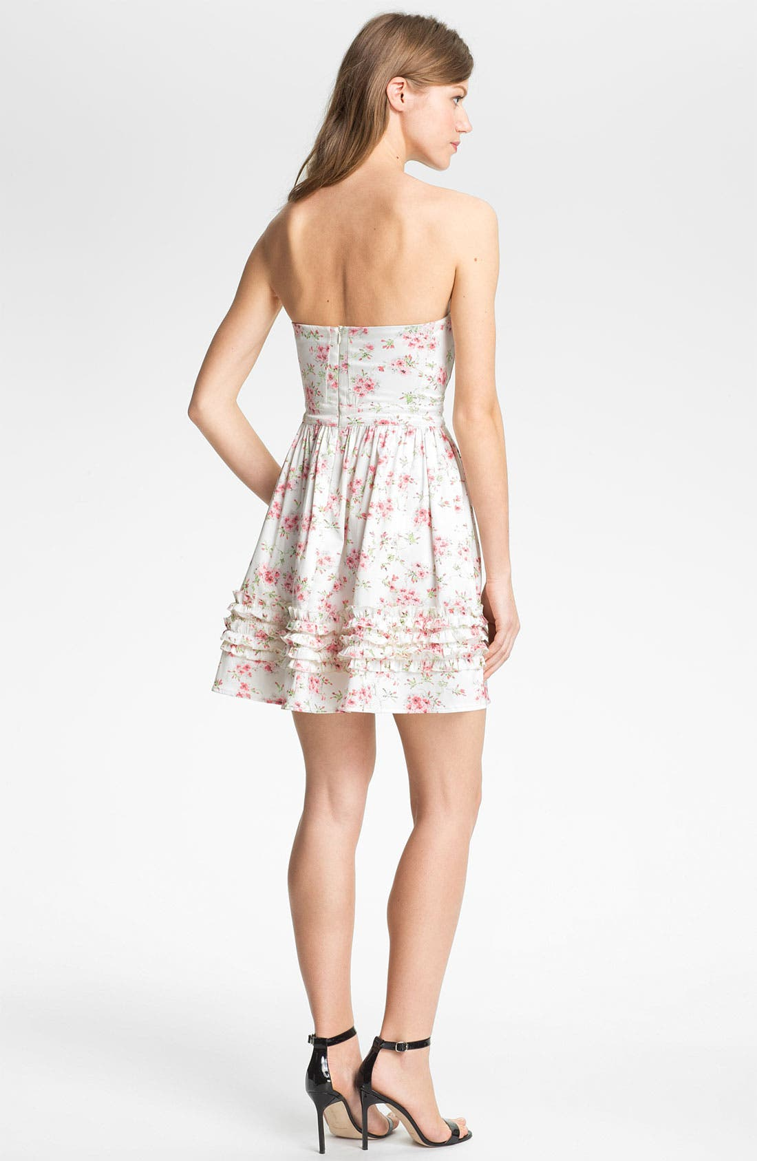 Alternate Image 2  - Man Repeller X PJK 'Aurora' Print Cotton Blend Fit & Flare Dress