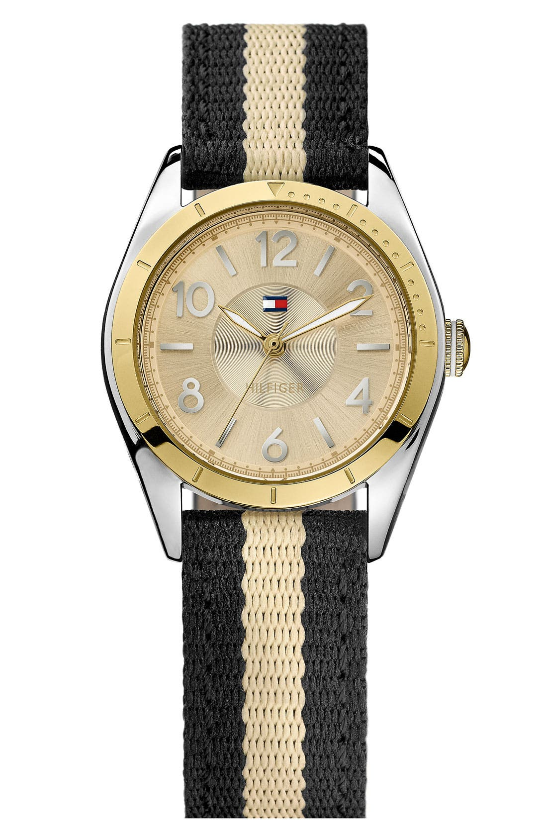 Alternate Image 1 Selected - Tommy Hilfiger Round Nylon Strap Watch, 30mm