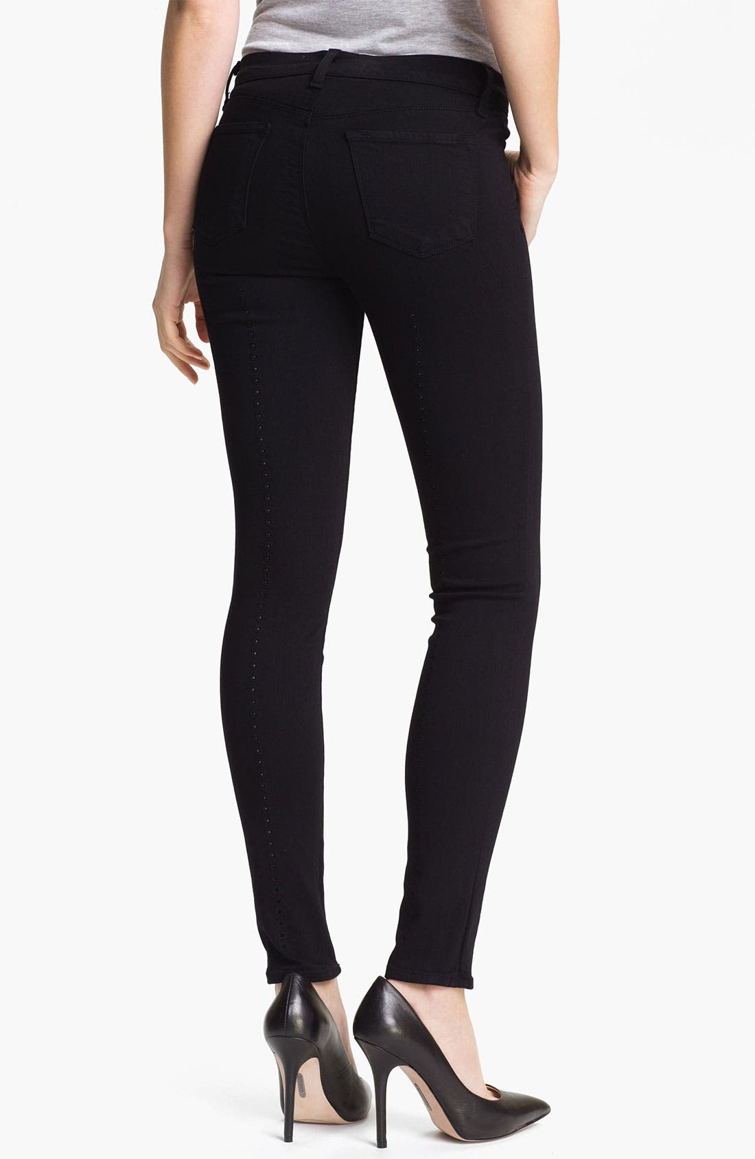 Alternate Image 2  - J Brand Super Skinny Stretch Jeans (Black)