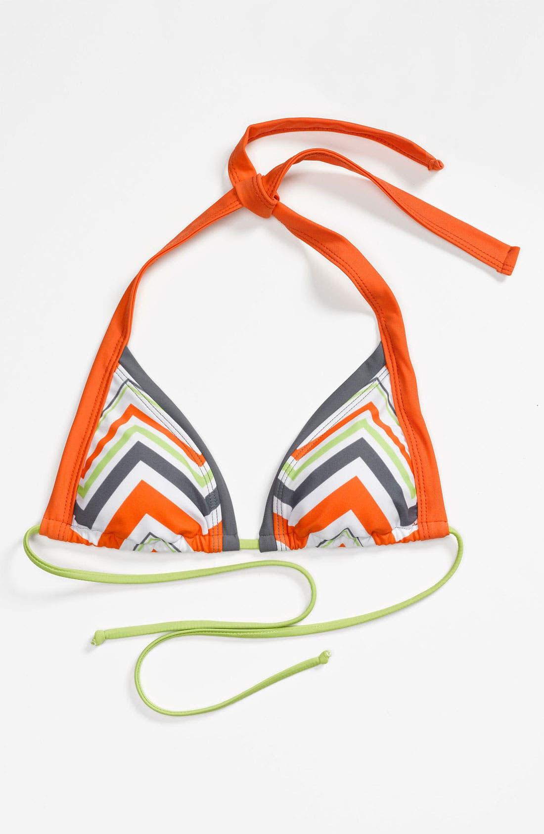 Alternate Image 1 Selected - BCA Chevron Stripe Triangle Bikini Top