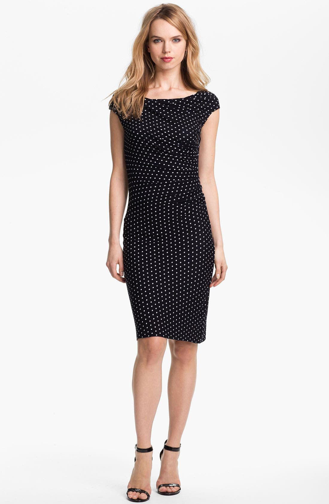 Alternate Image 1 Selected - Vince Camuto Dot Print Ruched Dress