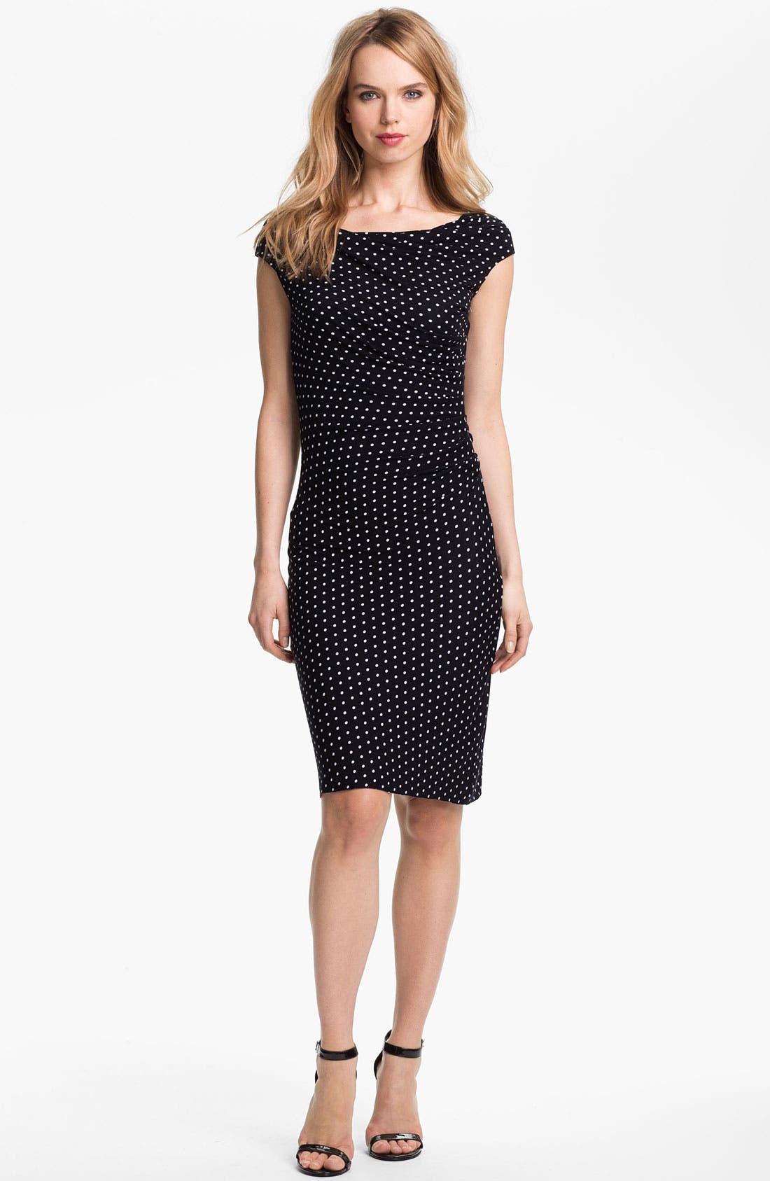 Main Image - Vince Camuto Dot Print Ruched Dress