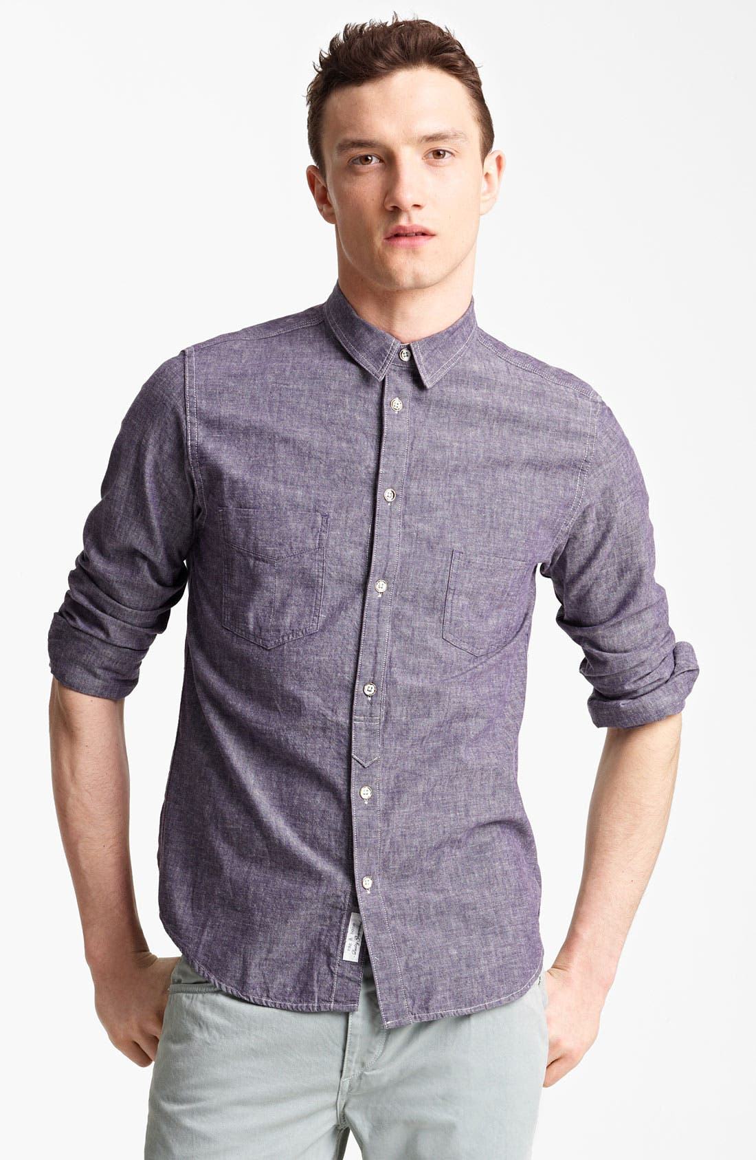 Alternate Image 1 Selected - rag & bone 'Grange' Chambray Shirt