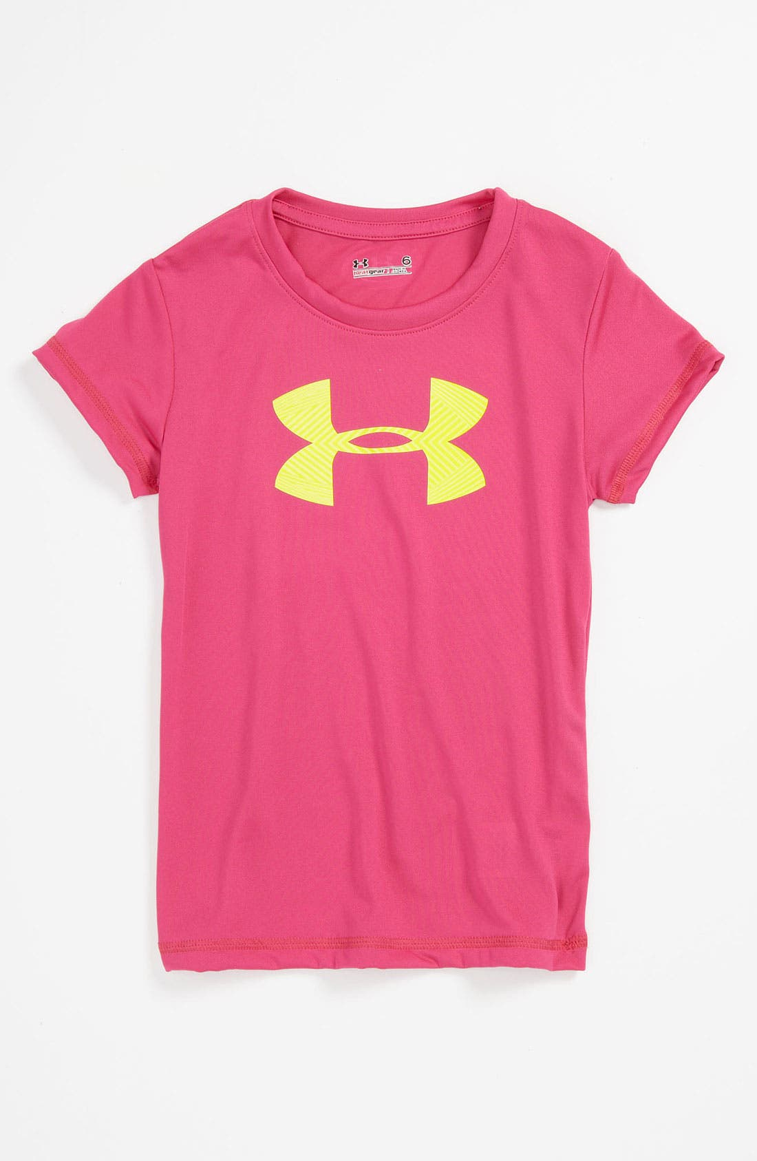 Main Image - Under Armour 'Core' Logo Tee (Little Girls)