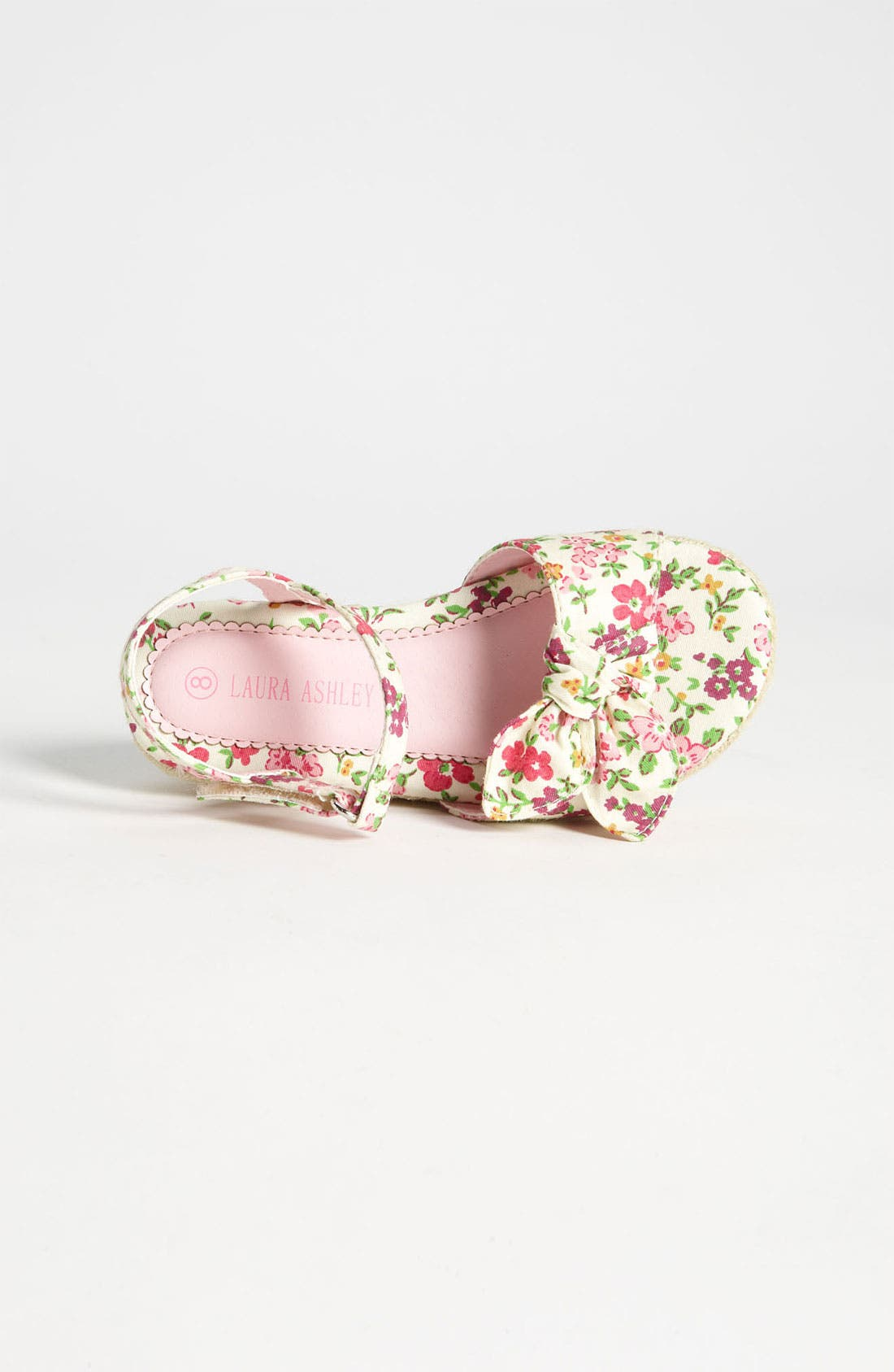 Alternate Image 3  - Laura Ashley Flower Print Fabric Sandal (Walker & Toddler)