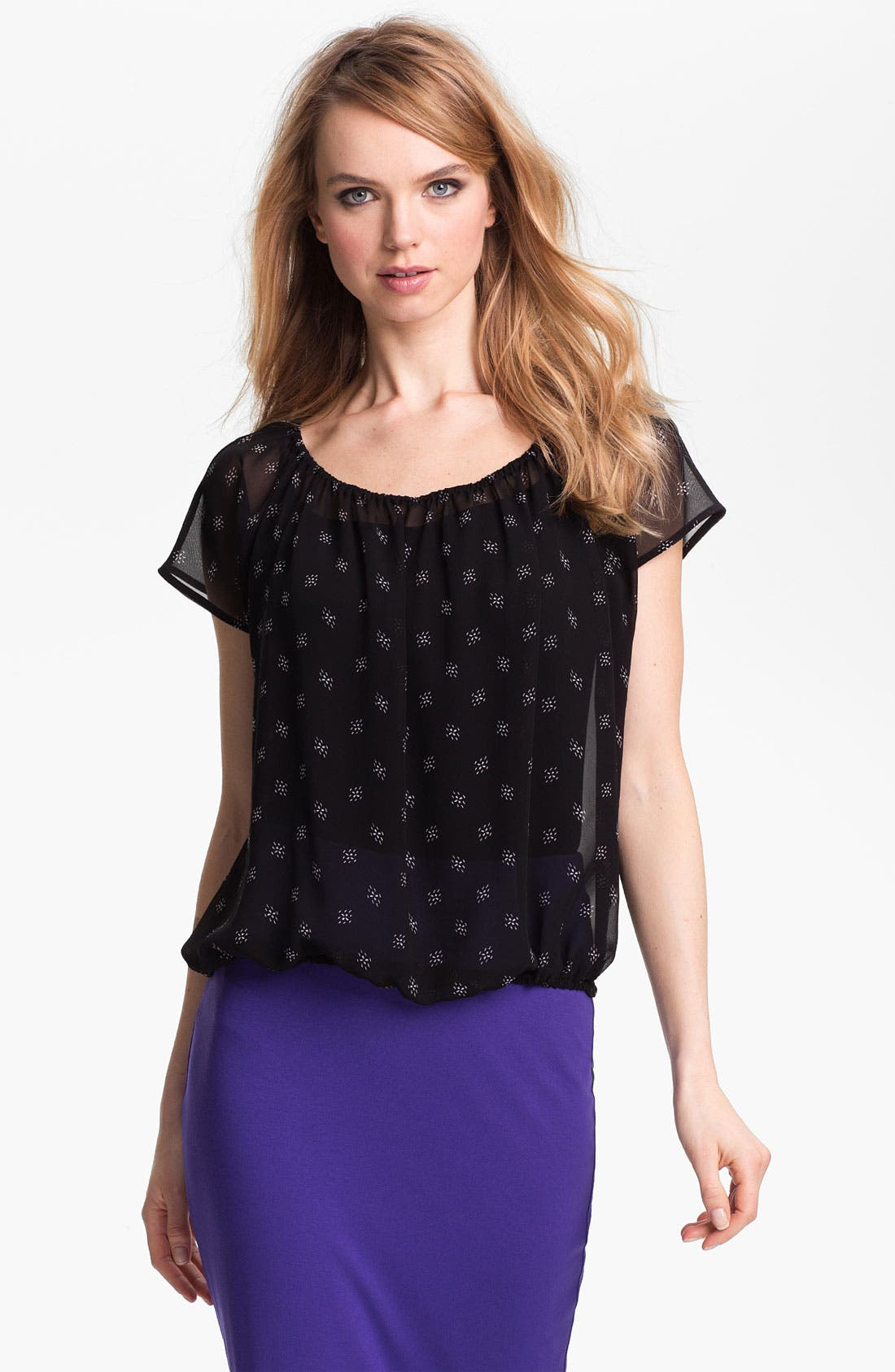 Main Image - Vince Camuto Print Peasant Blouse