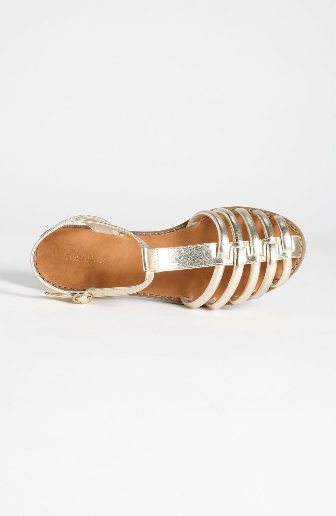 Alternate Image 3  - Topshop 'Hampi' Caged Toe Fisherman Sandal