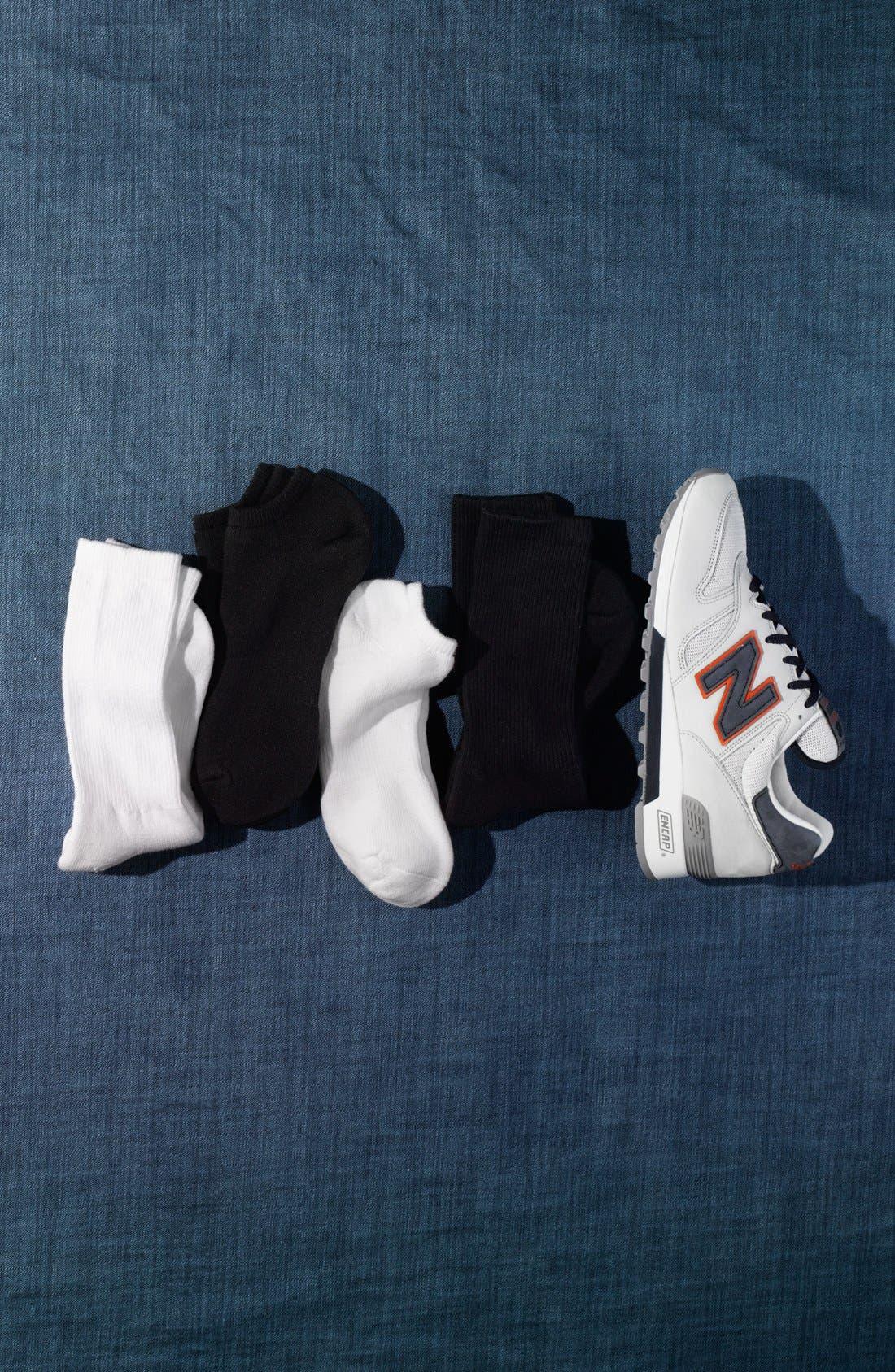 Alternate Image 3  - Nordstrom Men's Shop No-Show Socks (4-Pack)