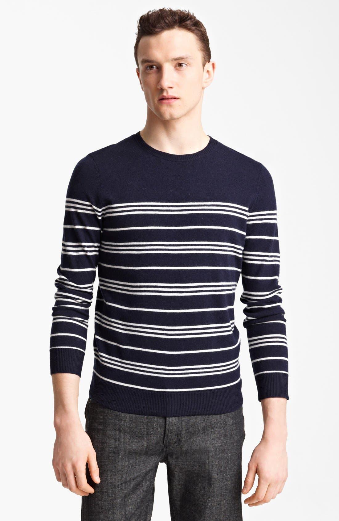 Main Image - A.P.C. Stripe Crewneck Wool Sweater