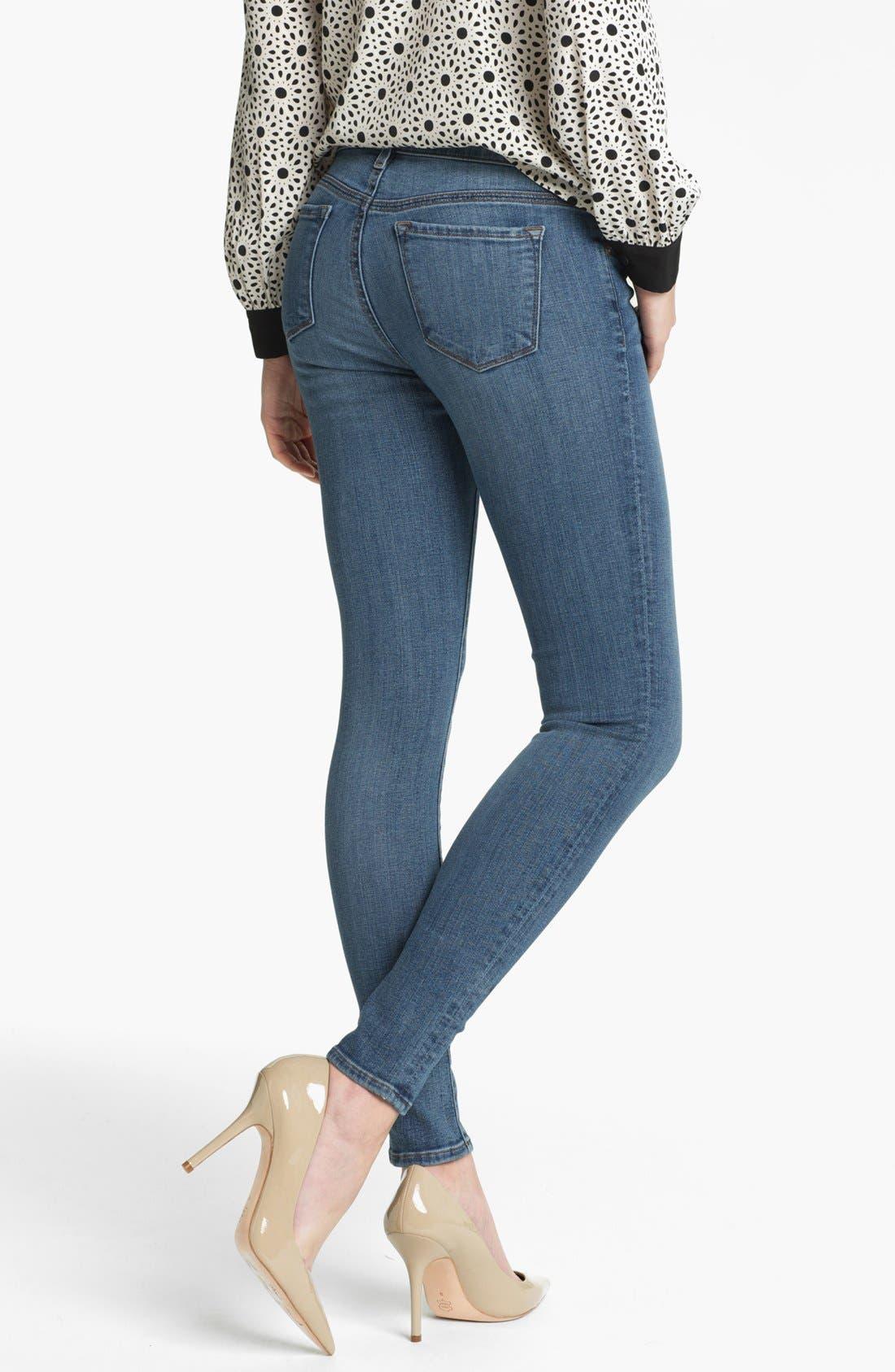 Alternate Image 2  - J Brand '620' Mid-Rise Skinny Jeans (Bayside)