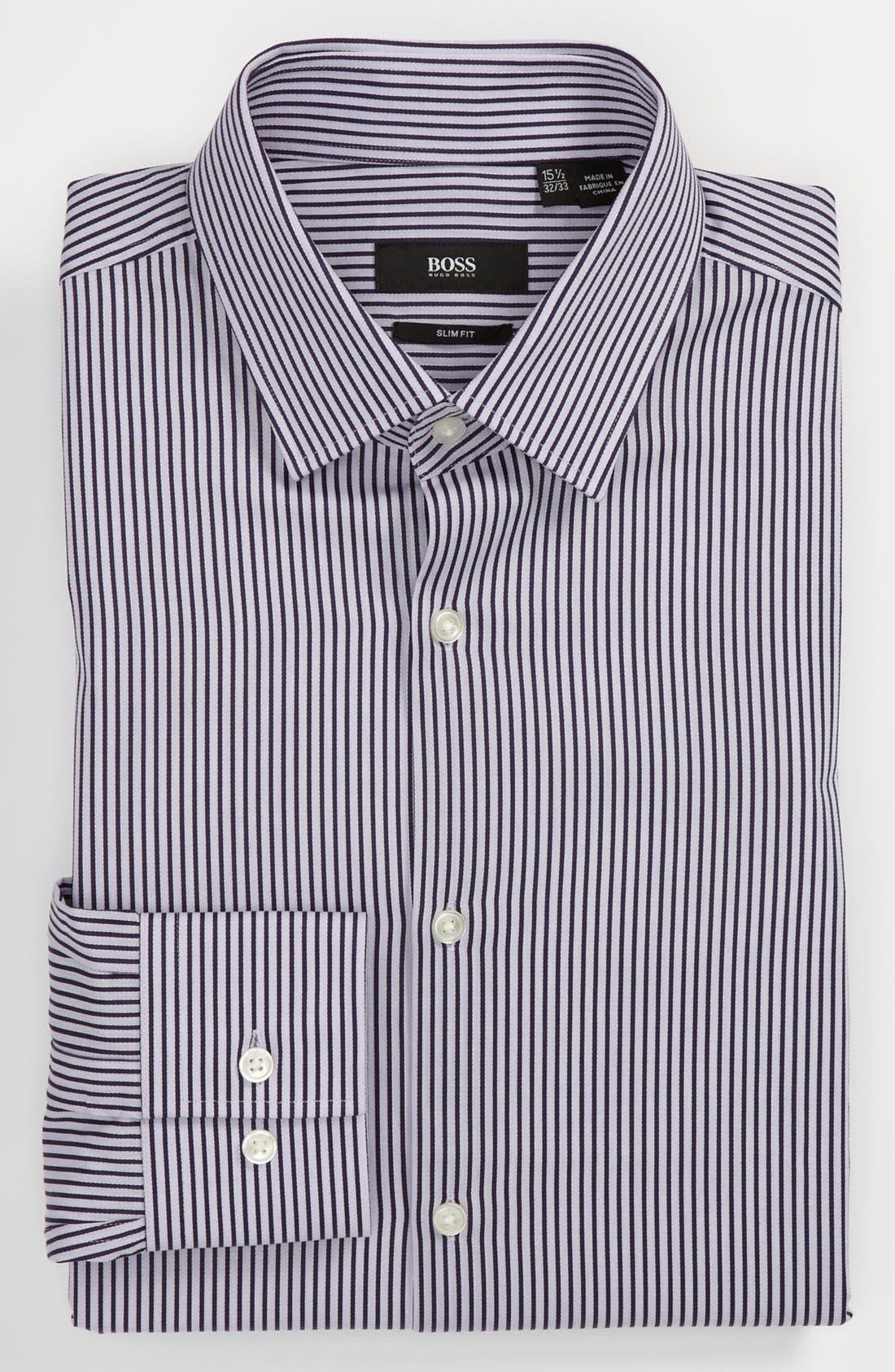 Alternate Image 1 Selected - BOSS Black Slim Fit Dress Shirt