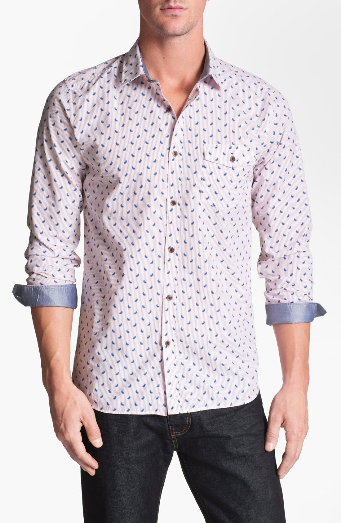 Alternate Image 1 Selected - Ted Baker London 'Pastrip' Trim Fit Sport Shirt