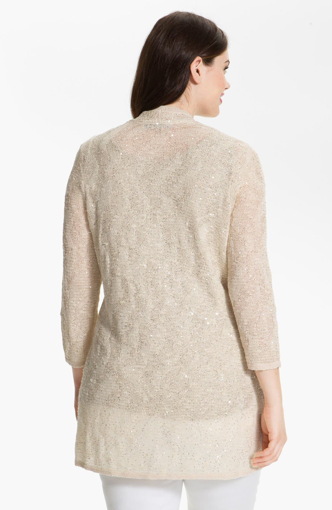 Alternate Image 2  - Nic + Zoe 'Sparkling Skies' Embellished Cardigan (Plus Size)