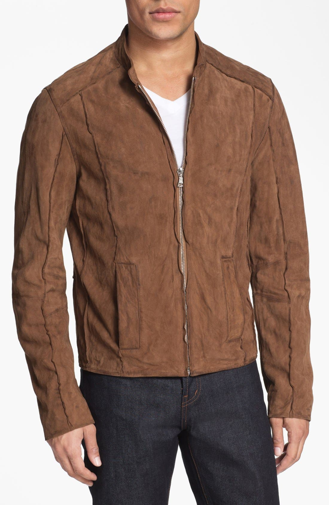 Main Image - Rogue Suede Bomber Jacket