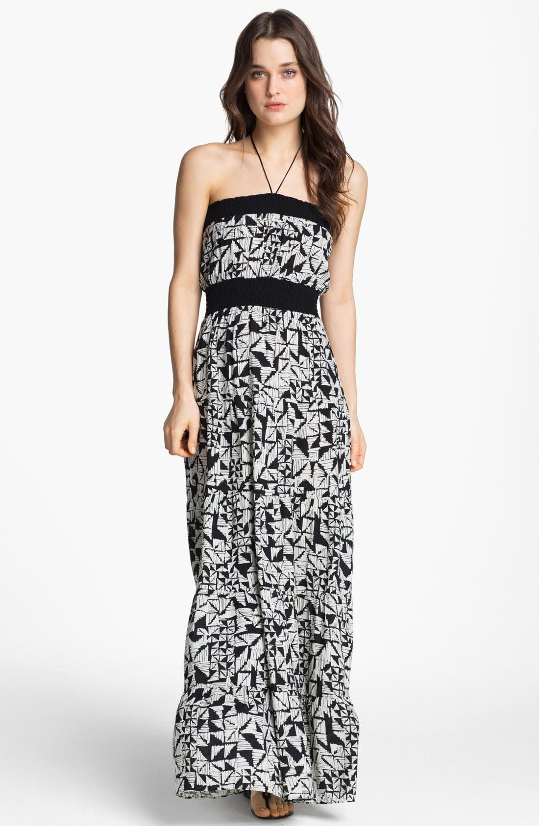 Alternate Image 1 Selected - Tbags Los Angeles Abstract Print Maxi Dress