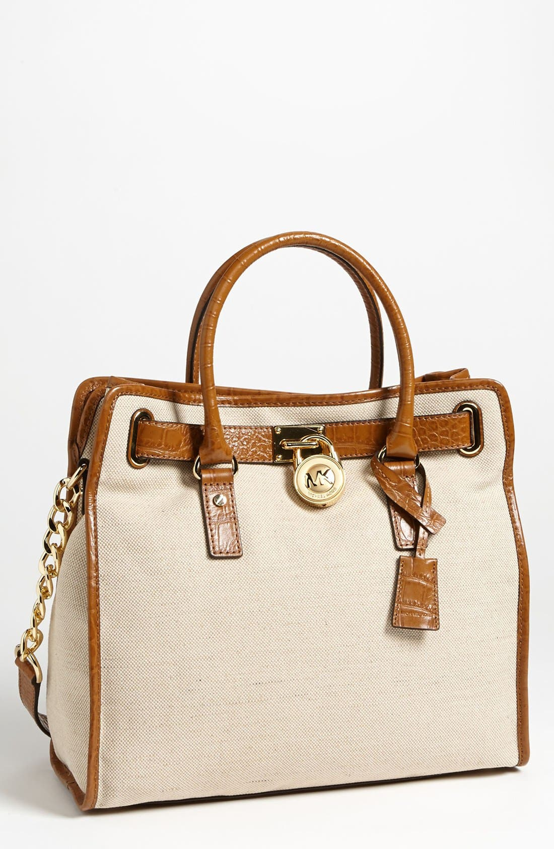 Alternate Image 1 Selected - MICHAEL Michael Kors 'Hamilton - Large' Canvas Tote