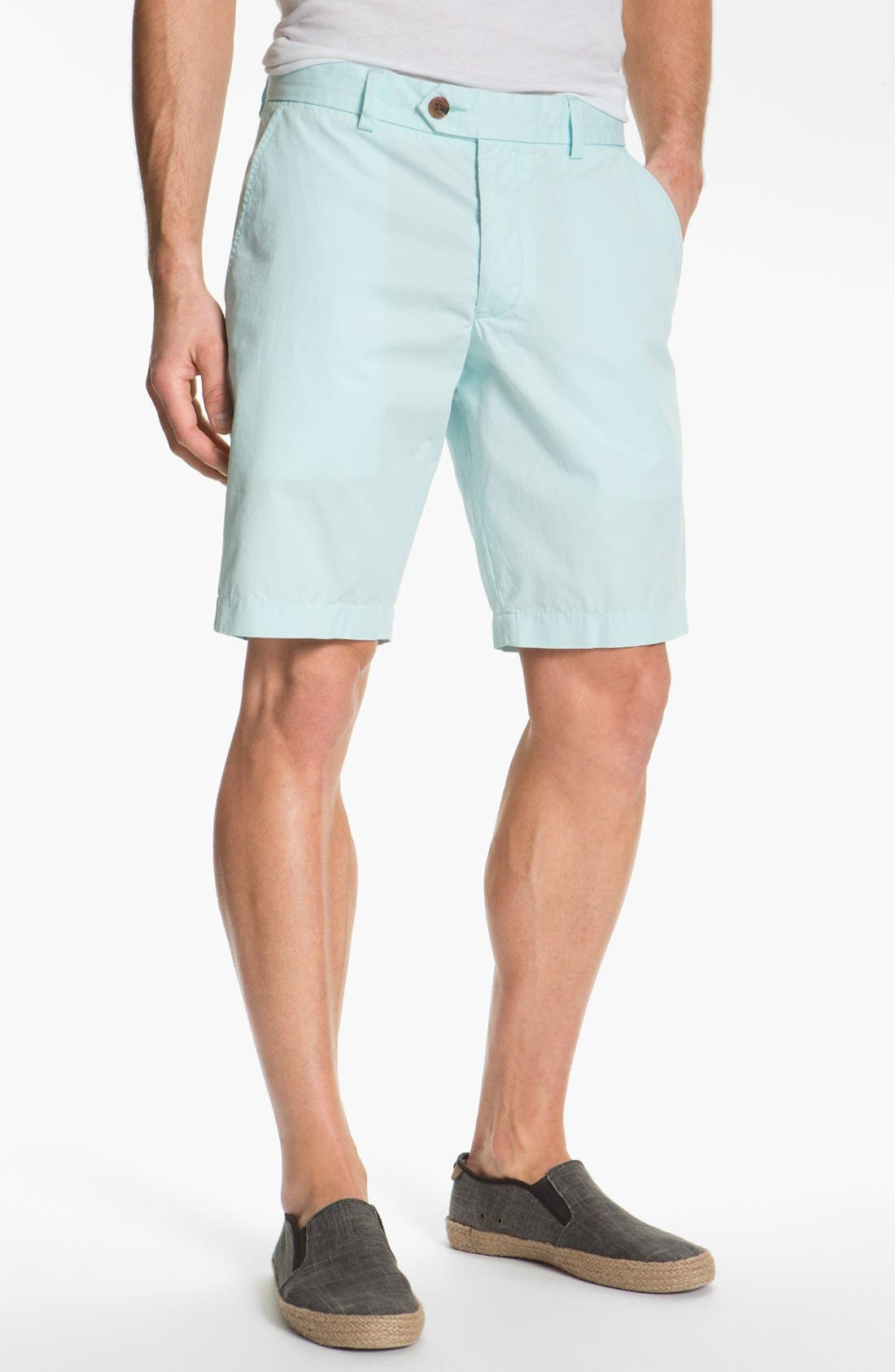 Alternate Image 1 Selected - French Connection Peached Cotton Shorts