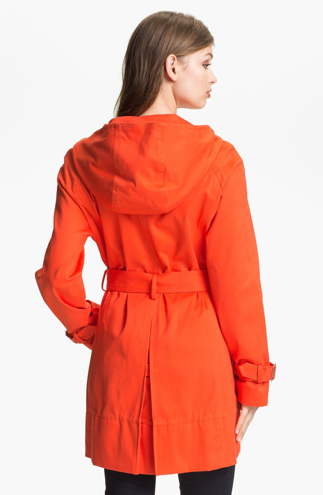 Alternate Image 2  - Calvin Klein Hooded Trench Coat