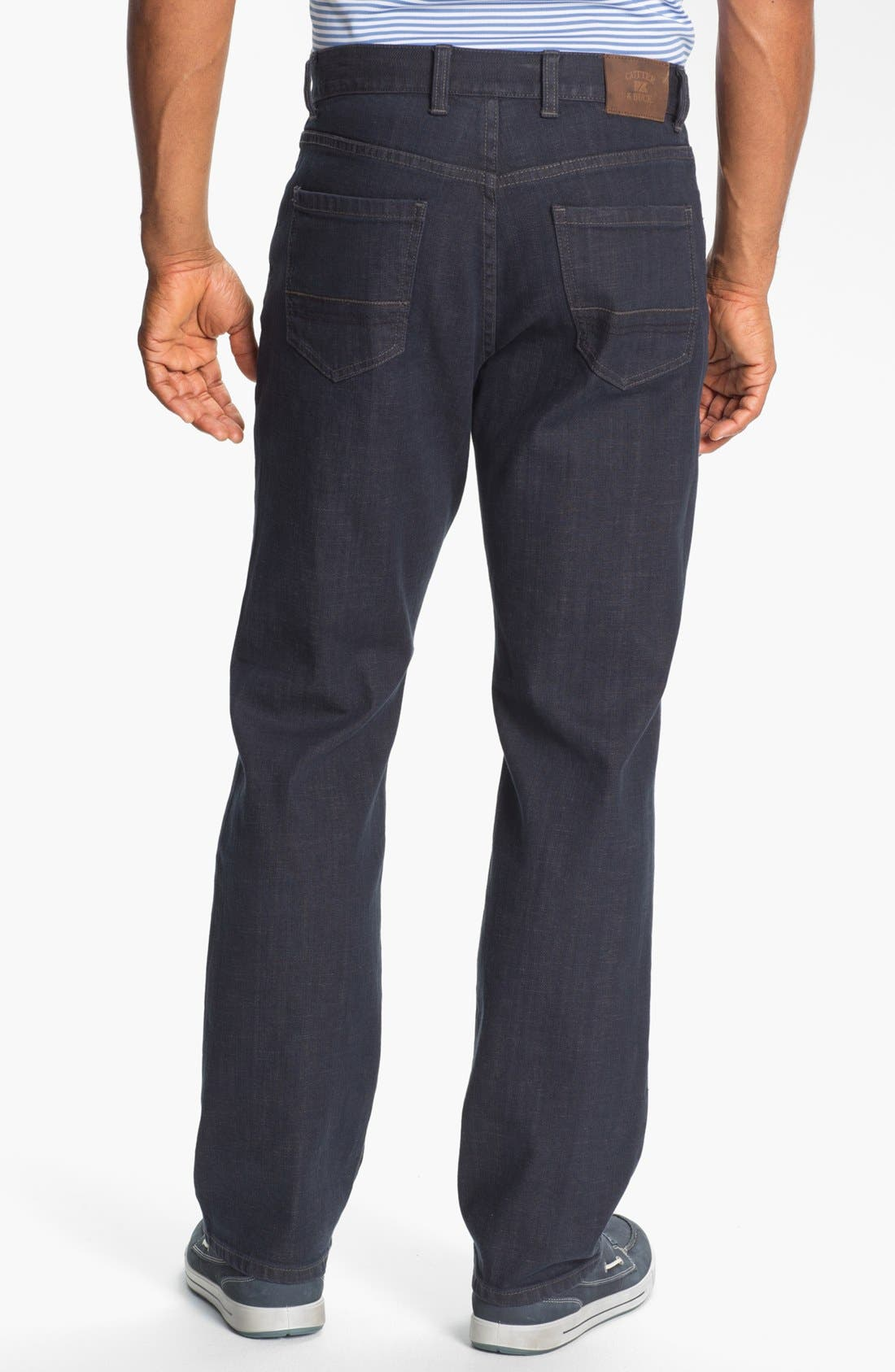Alternate Image 2  - Cutter & Buck 'Madison Park' Relaxed Fit Jeans (Carbon)